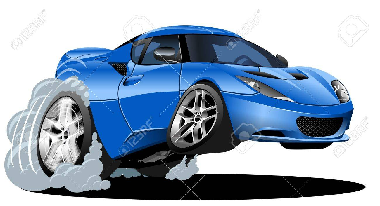 vector cartoon sportcar Stock Vector - 10954690