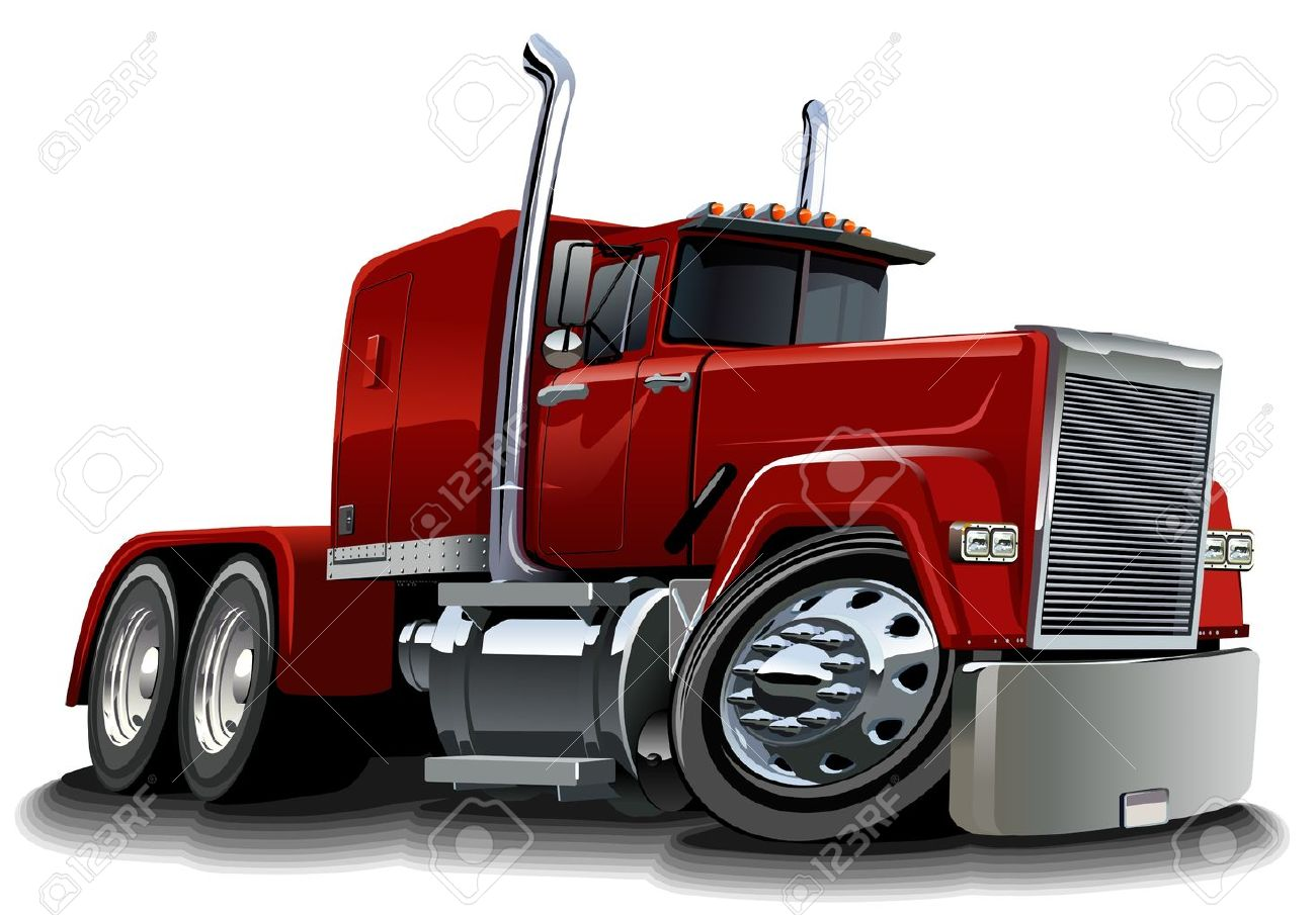 Vector cartoon semi truck Stock Vector - 11154828