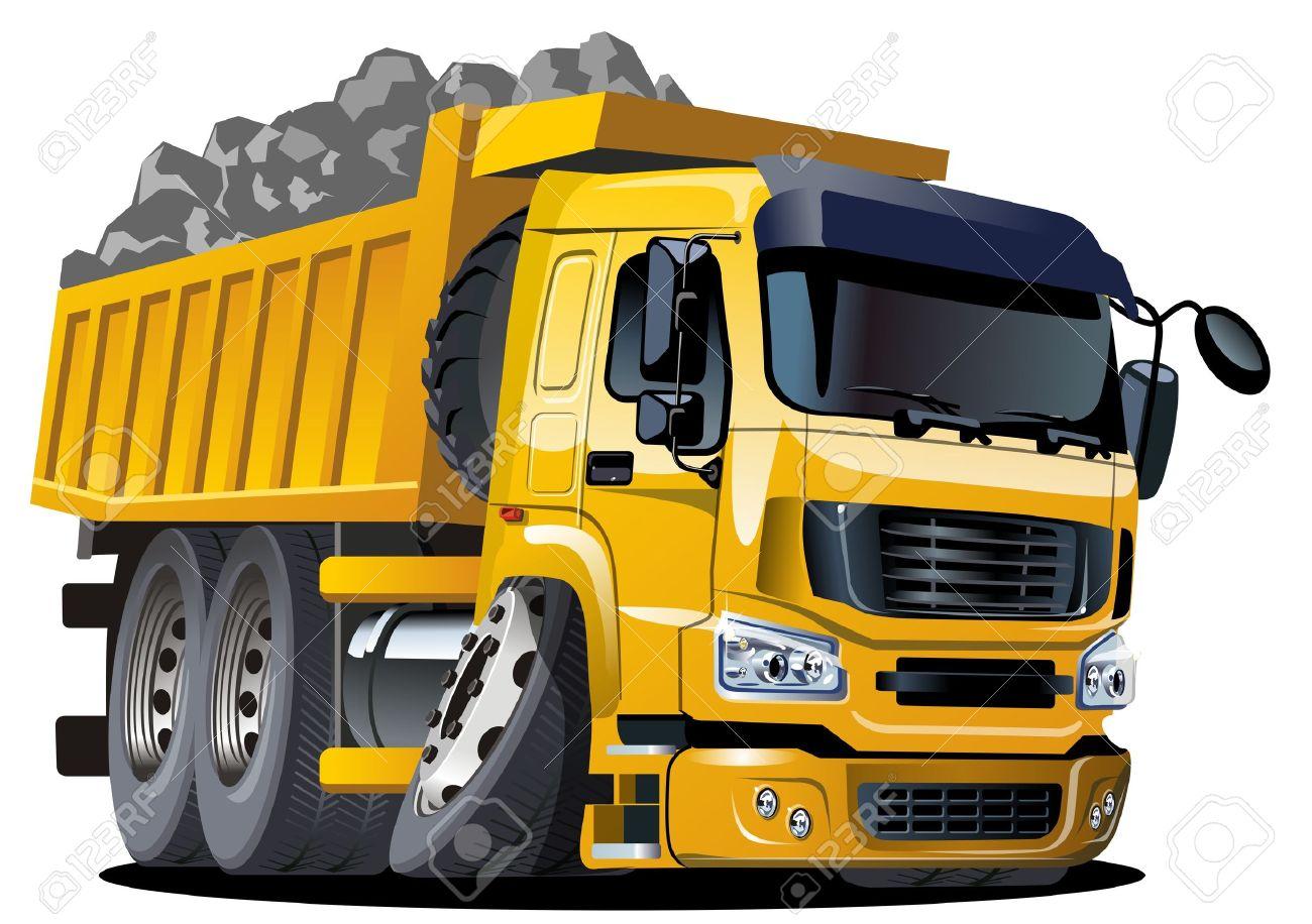 Vector cartoon dump truck Stock Vector - 11665899