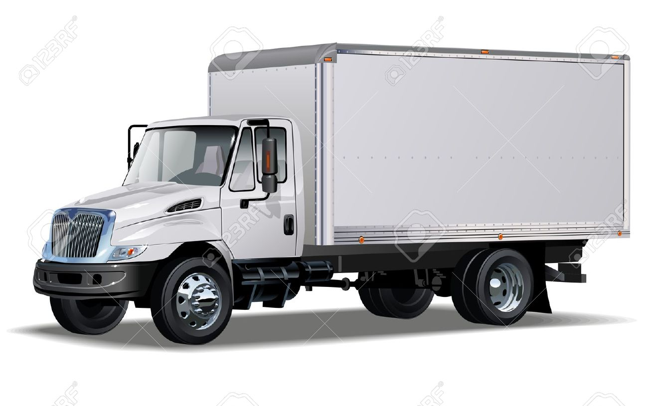 delivery   cargo truck  One click repaint Stock Vector - 12351965