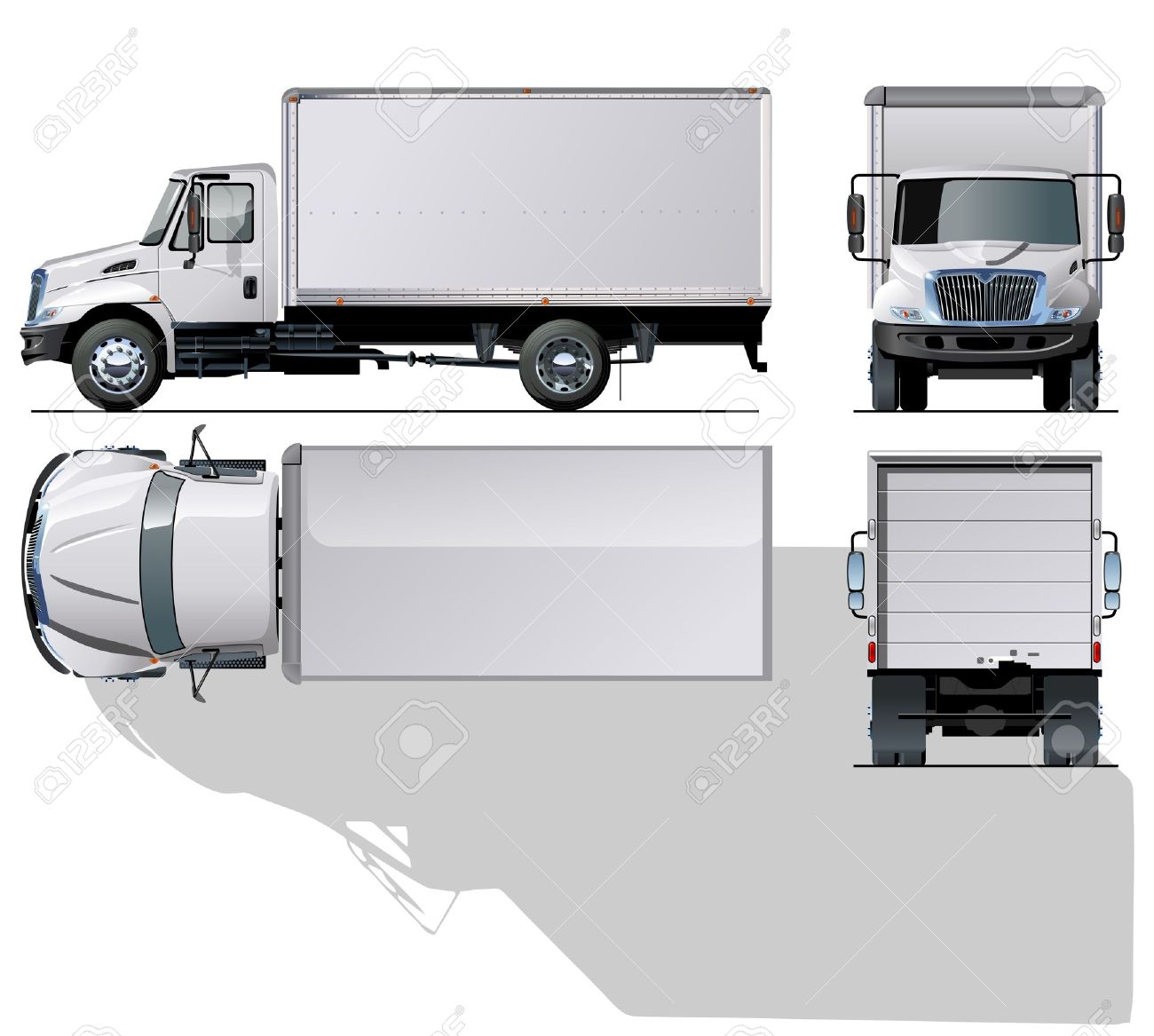 hi-detailed delivery   cargo truck Stock Vector - 12351966