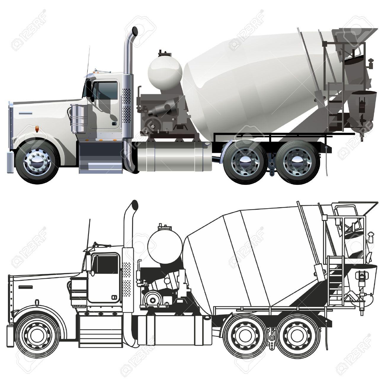 Vector concrete mixer truck Stock Vector - 12351968