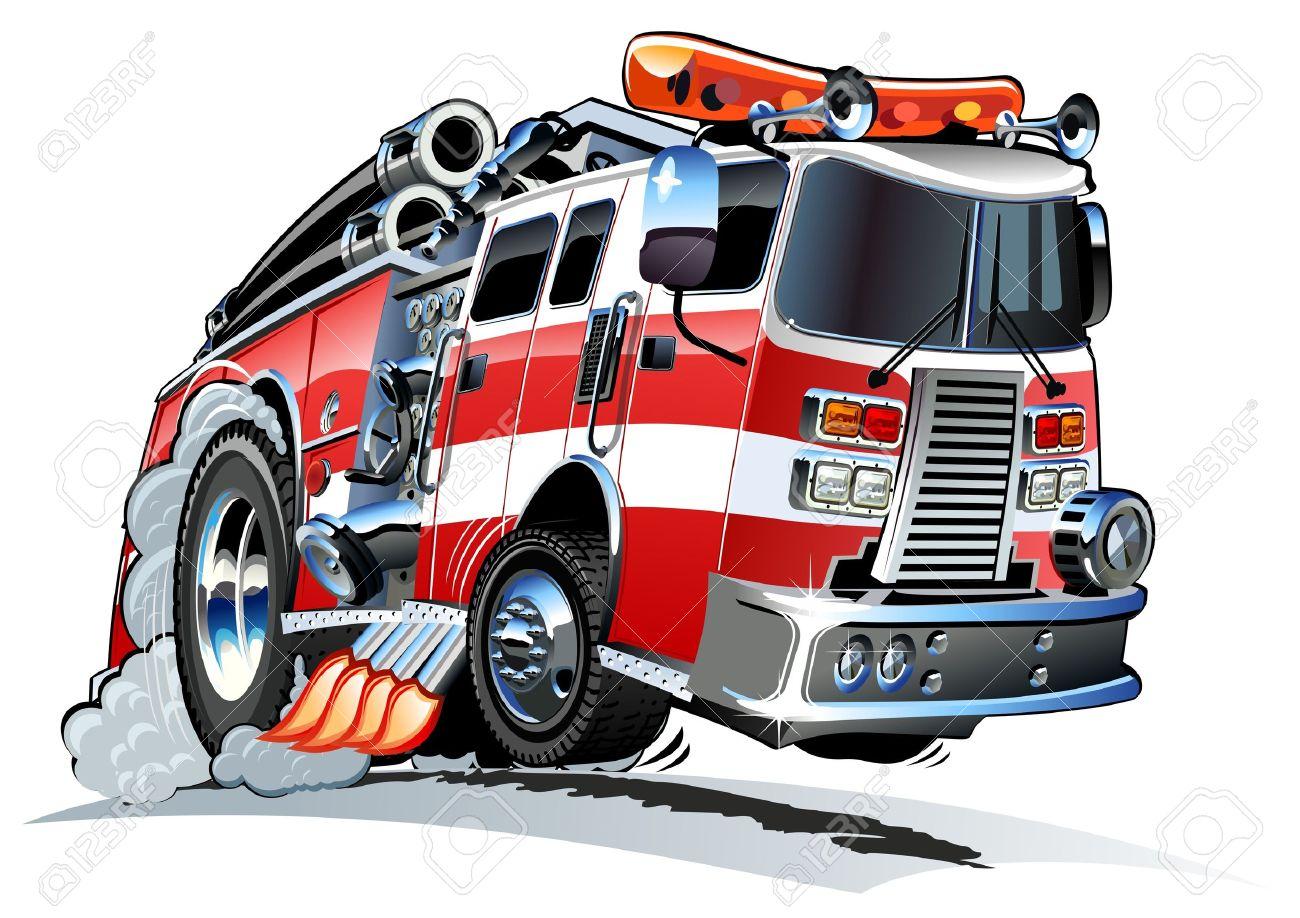 Cartoon Fire Truck Stock Vector - 14583555