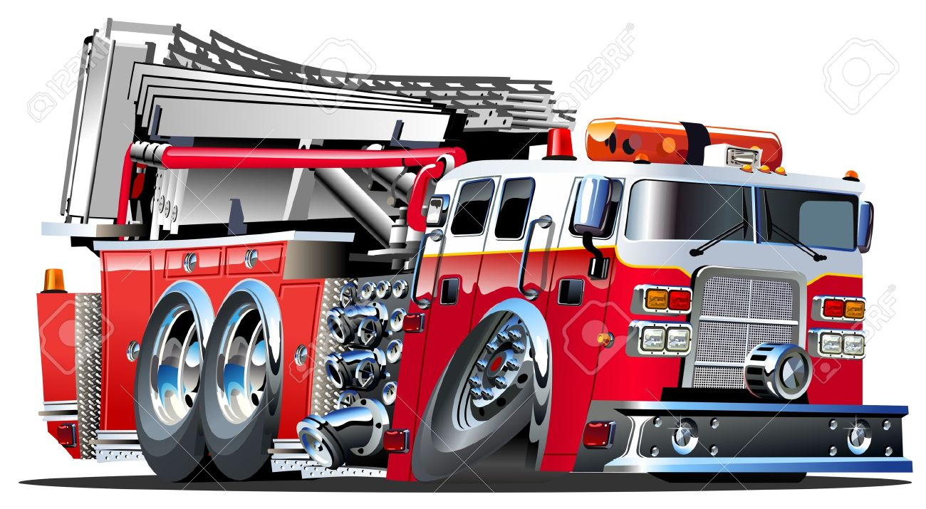 Vector Cartoon Fire Truck Lowroder Stock Vector - 15176045