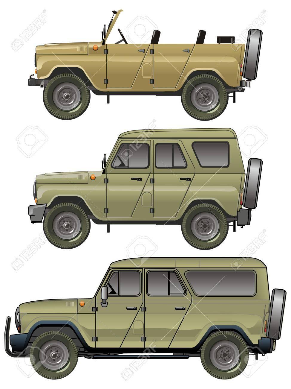 Vector jeeps set Stock Vector - 15176046