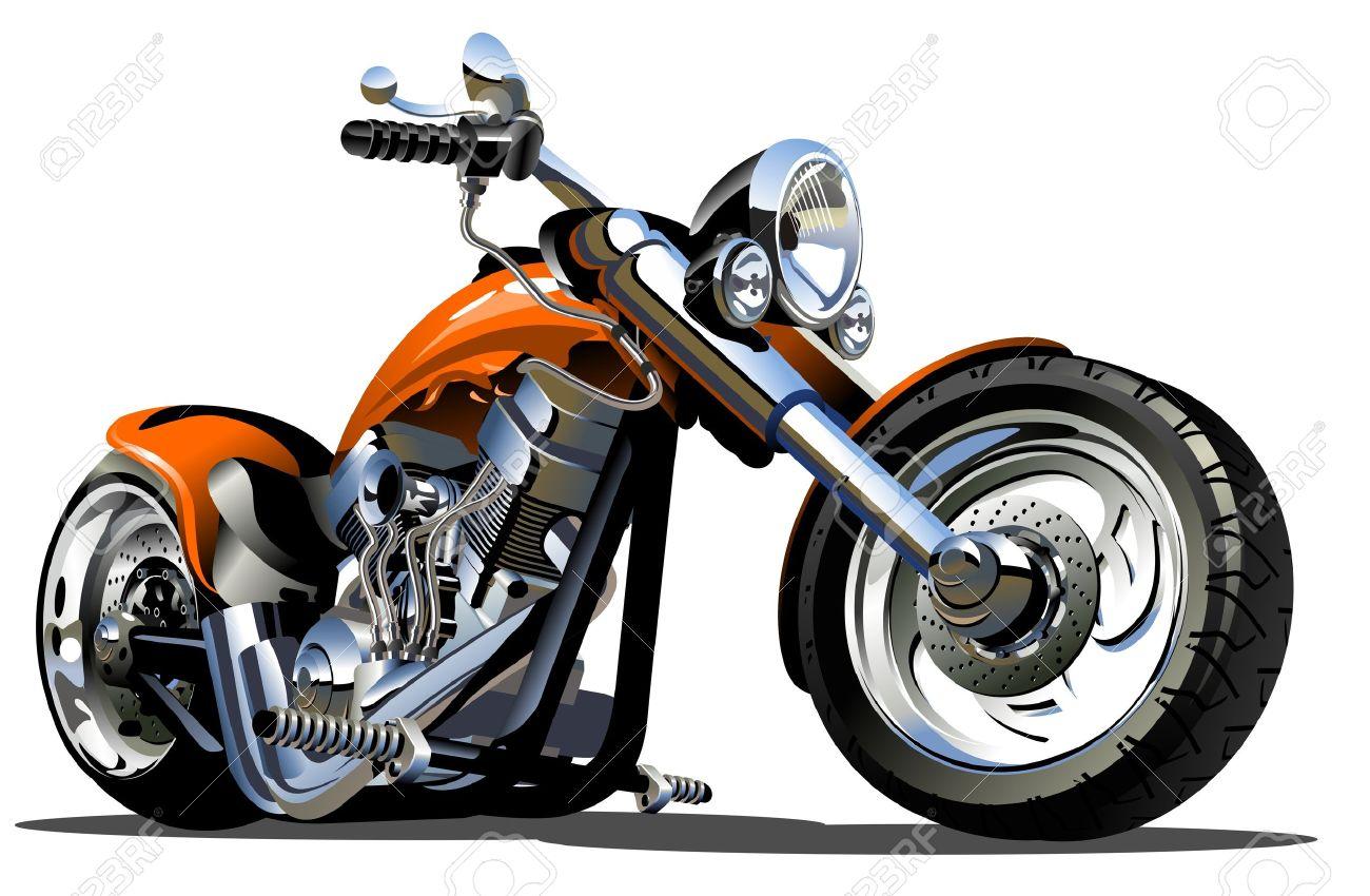 Cartoon Motorbike - 15685480