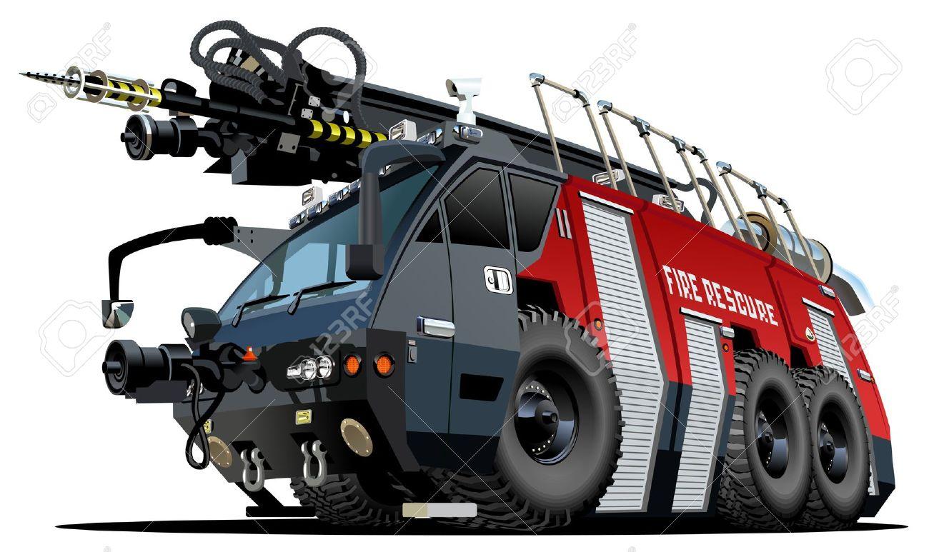 Cartoon Fire Truck Stock Vector - 16489654
