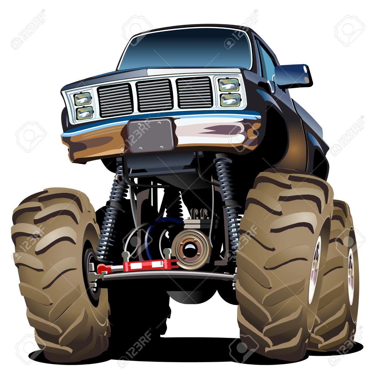 Cartoon Monster Truck Stock Vector - 19583130