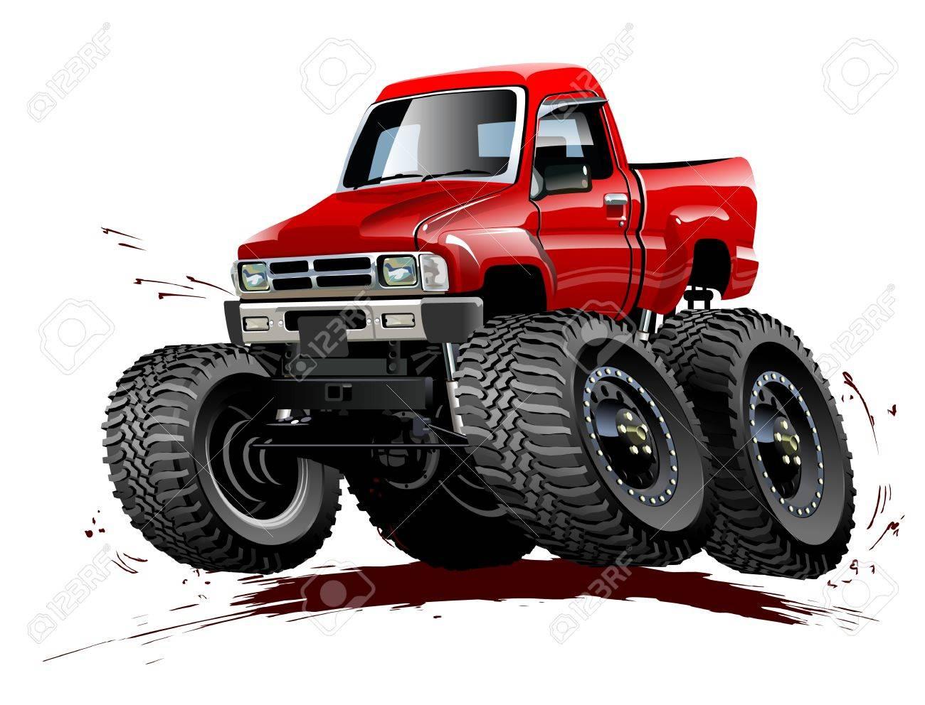 Vecteur De Dessin Animé Monster Truck Disponible Eps 10 Format