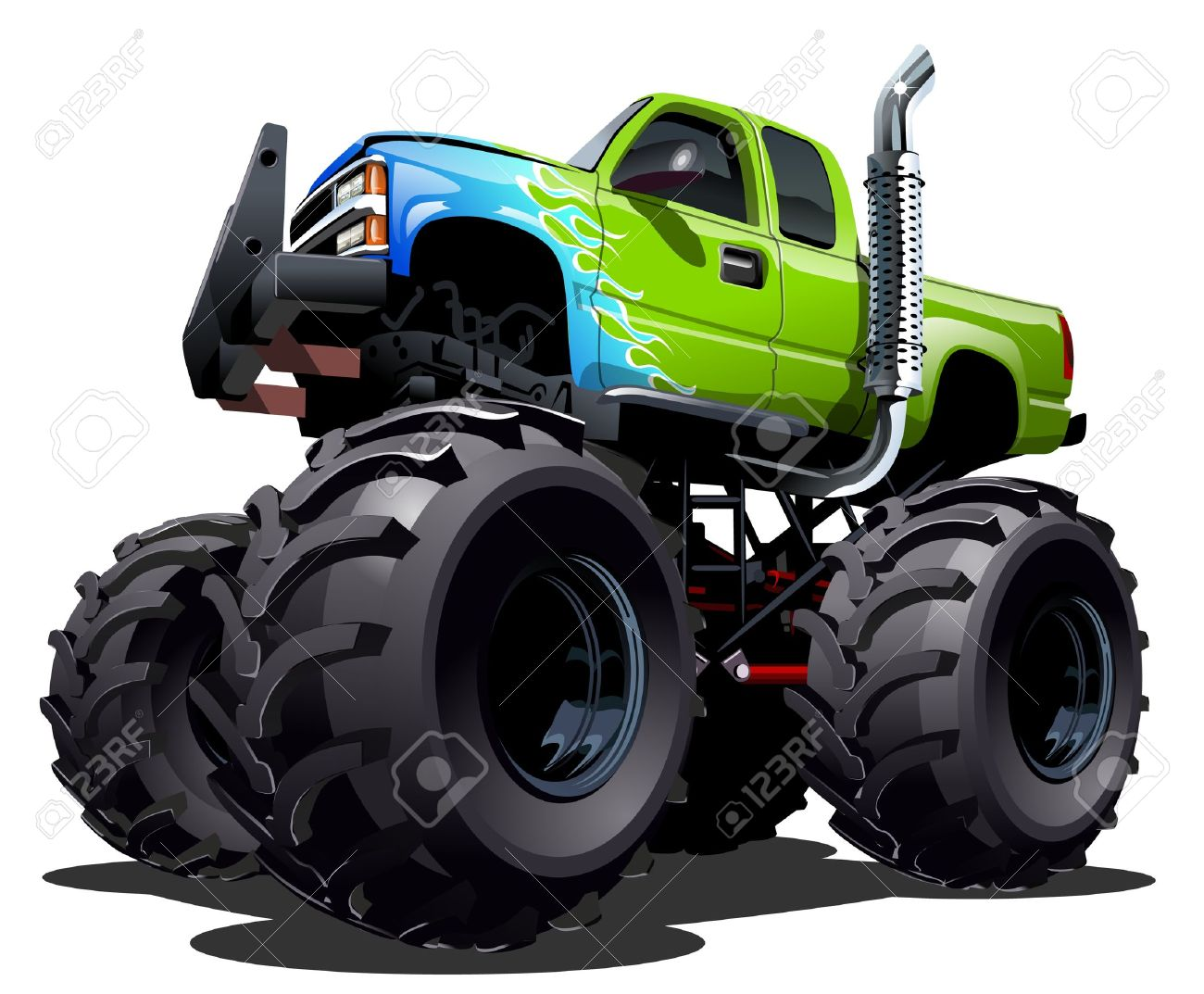 Cartoon Monster Truck Royalty Free Cliparts Vectors And Stock Illustration Image 29480740