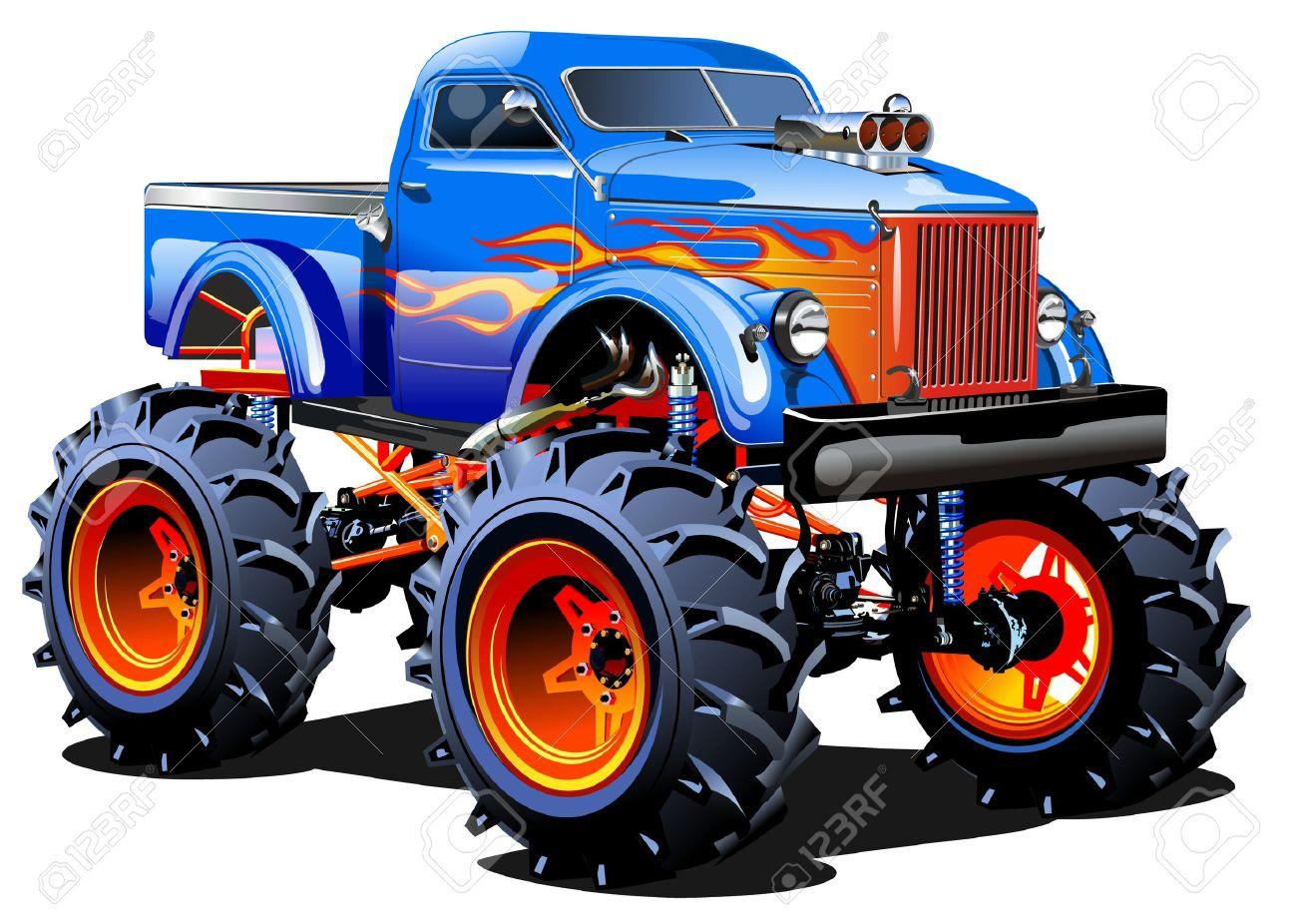 cartoon monster truck royalty free cliparts vectors and stock rh 123rf com monster truck clip art images monster jam clip art