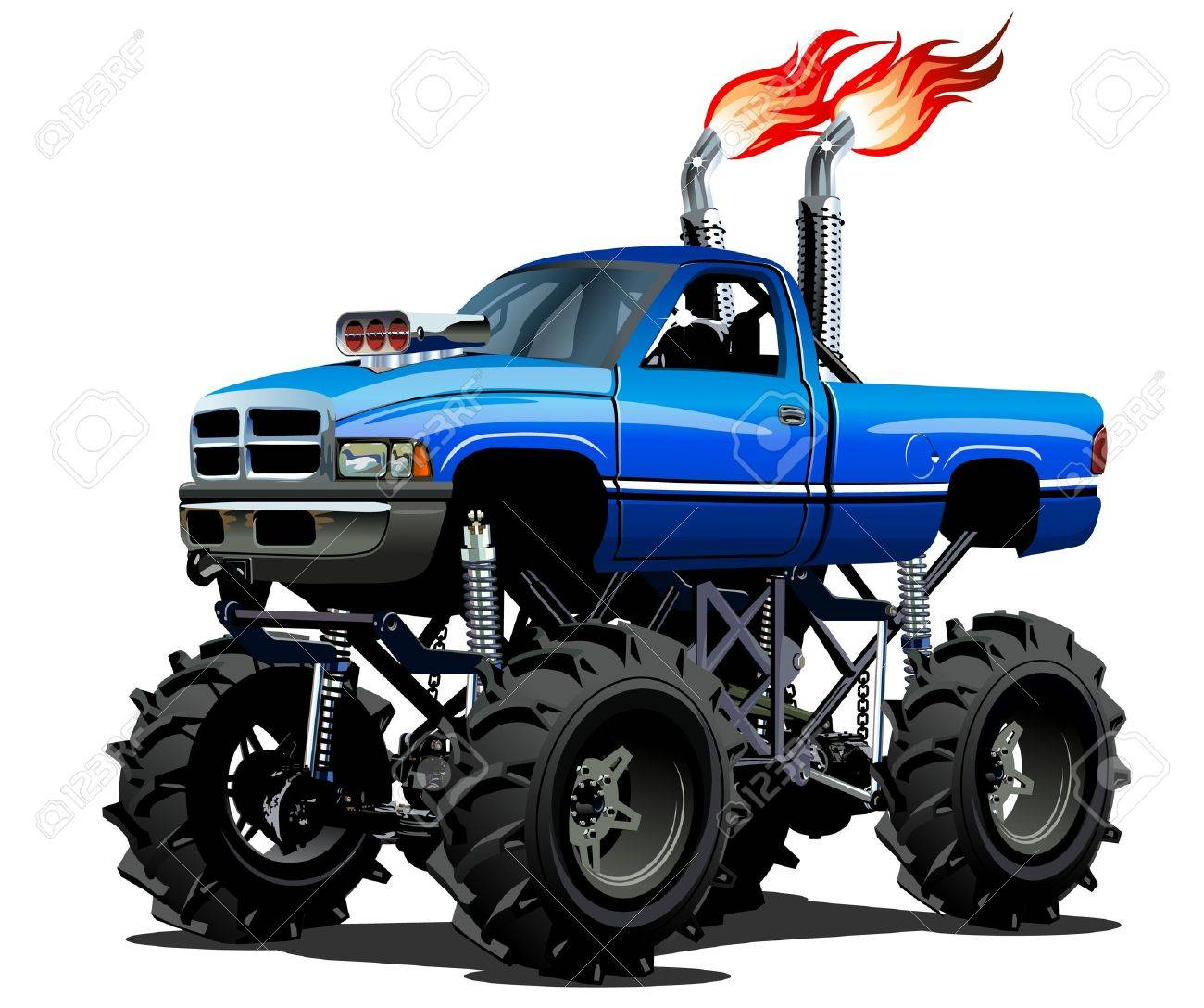 Cartoon Monster Truck Available Eps 10 Separated By Groups And Royalty Free Cliparts Vectors And Stock Illustration Image 42844009