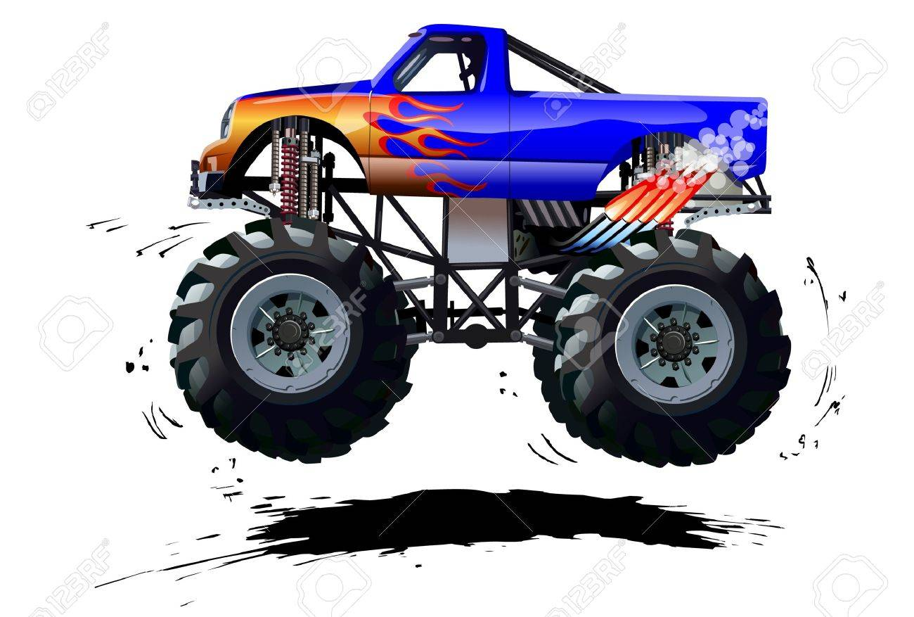 Cartoon Monster Truck Available Separated By Groups And Layers Royalty Free Cliparts Vectors And Stock Illustration Image 45363647