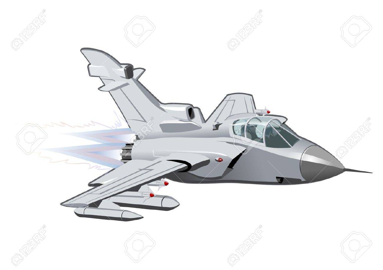 vector cartoon fighter plane available eps 10 vector format