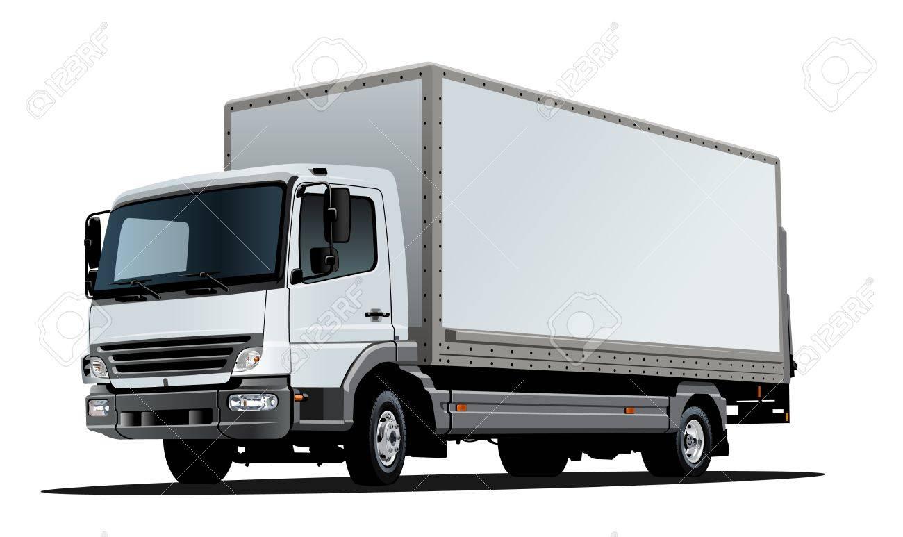 Vector Artístico Plantilla De Camiones Aislados En Blanco. EPS-10 ...
