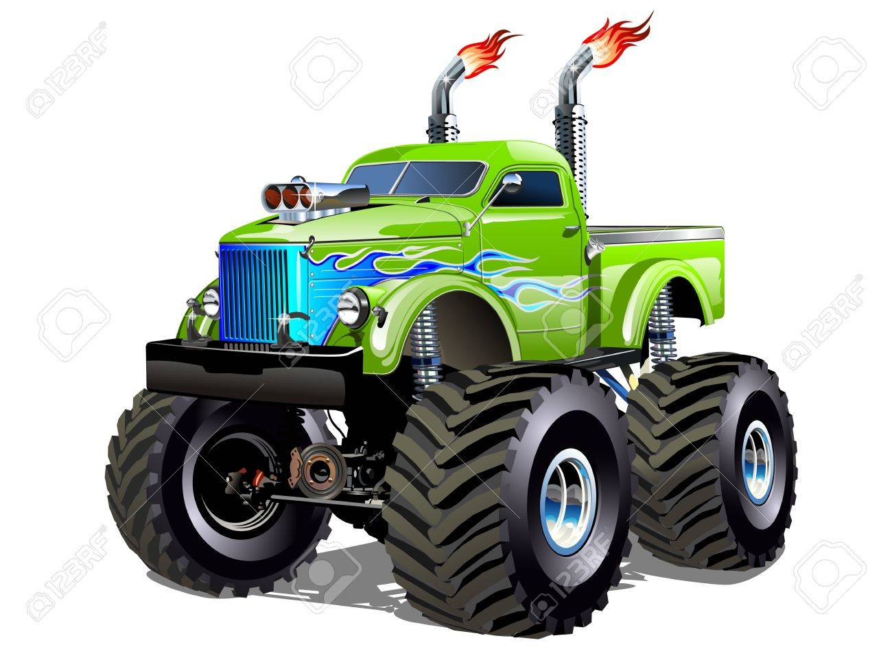Cartoon Monster Truck Available Eps 10 Separated By Groups And Royalty Free Cliparts Vectors And Stock Illustration Image 81841145