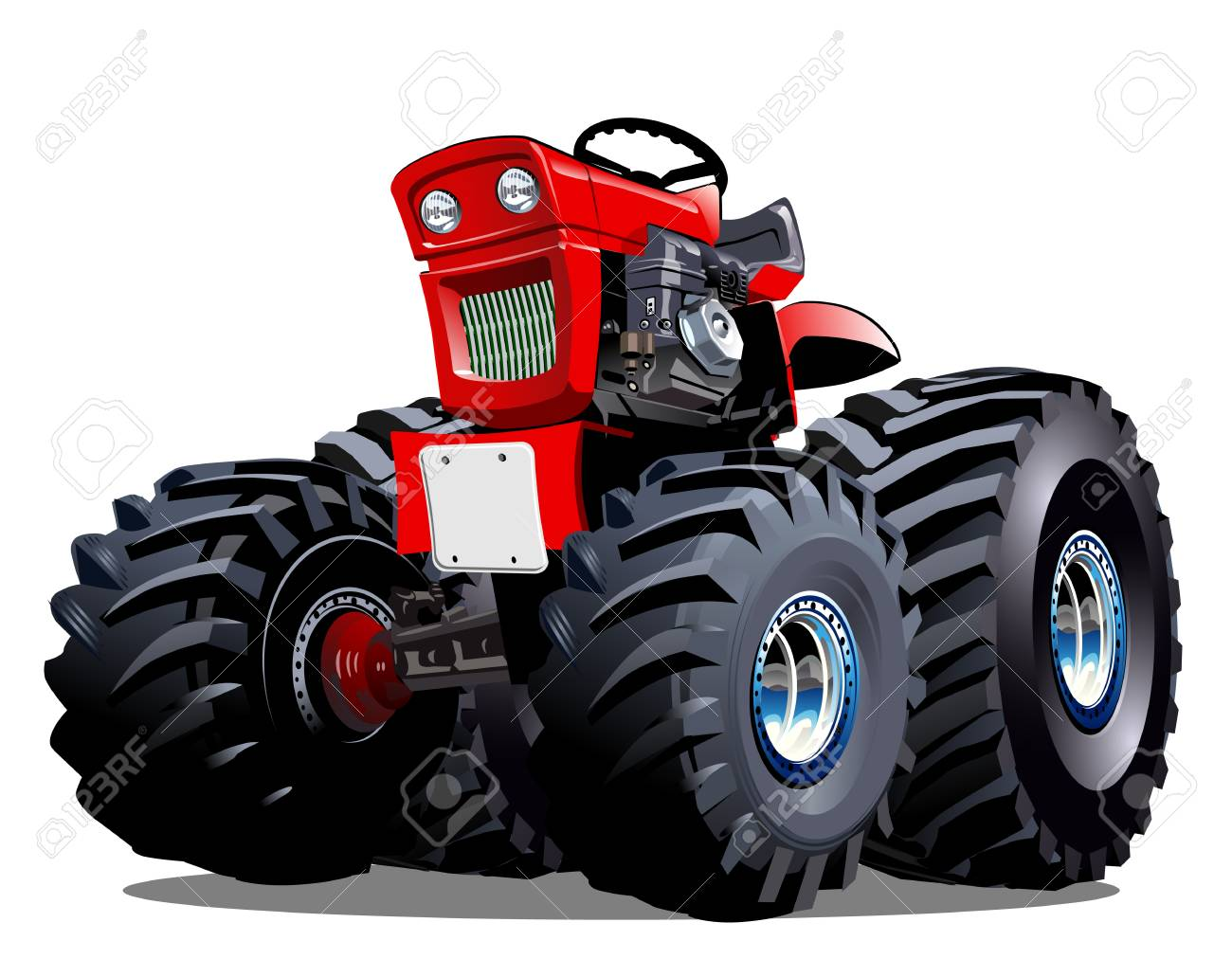 Vektor Cartoon Traktor Erhältlich Eps 10 Vektor Format Von Gruppen