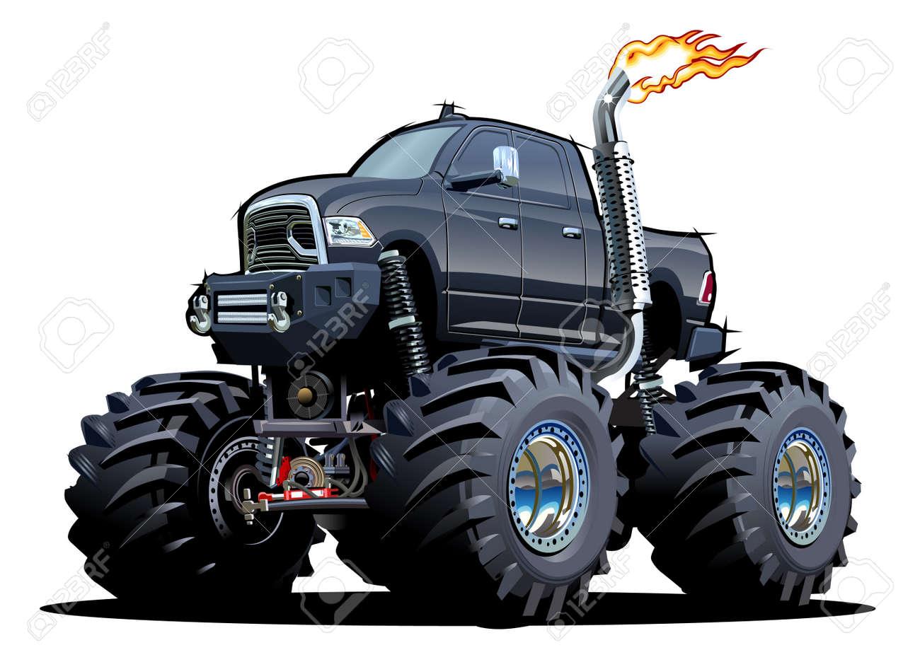Cartoon Monster Truck - 159536827