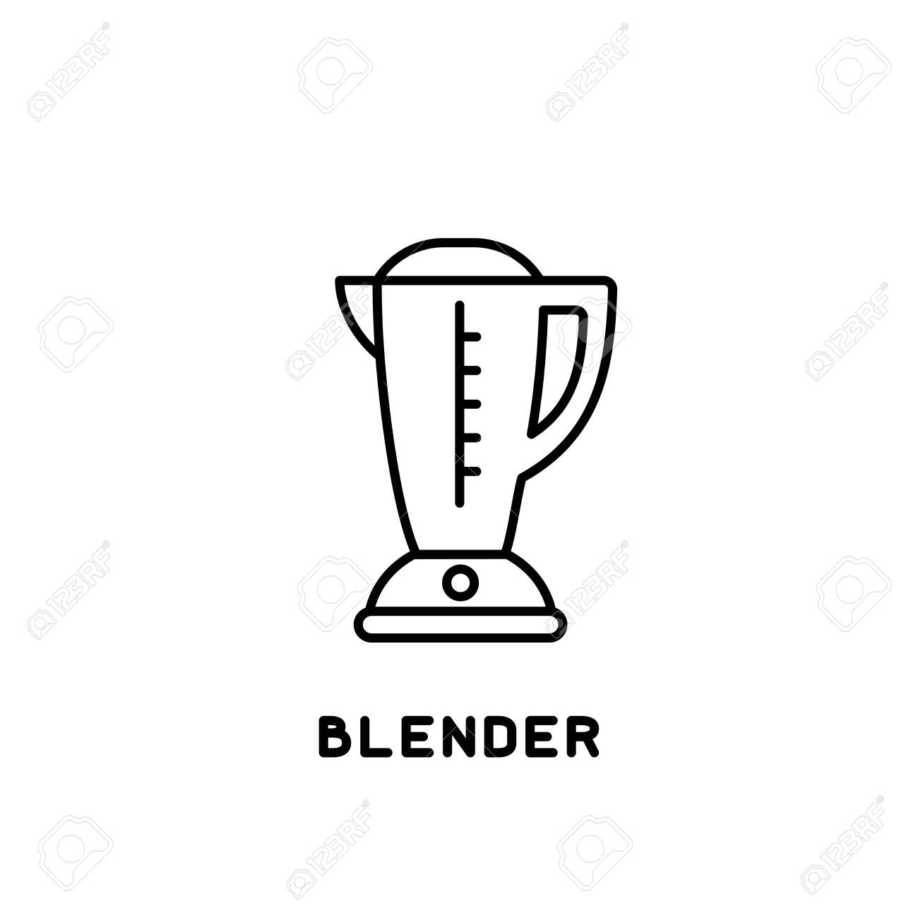 blender icon in linear style on white background - 130984741