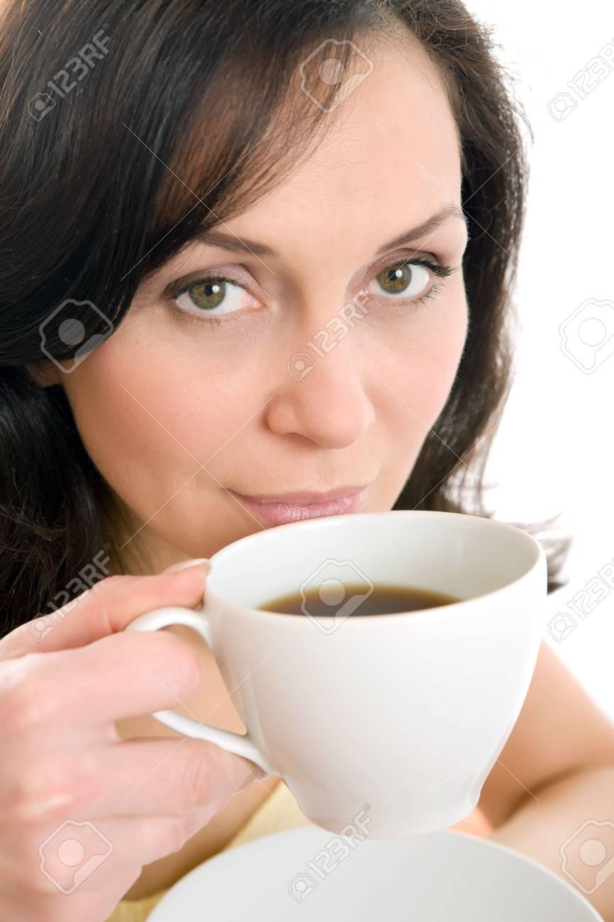 young woman enjoying a cup of tea Stock Photo - 2788714