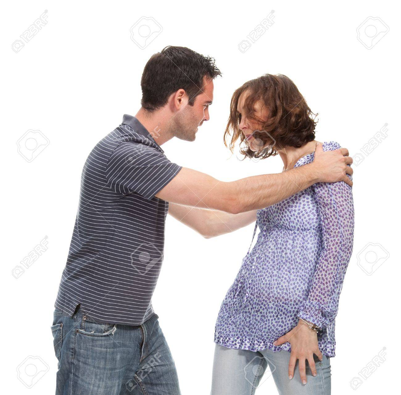 Angry couple yelling at each other Stock Photo - 5052577