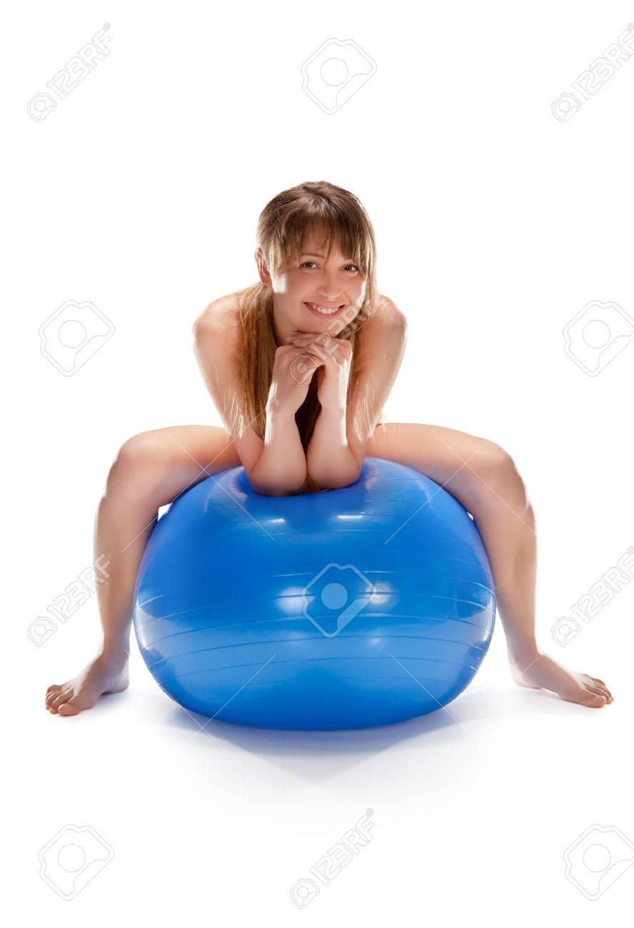 Girlspussy nude women on exercize ball