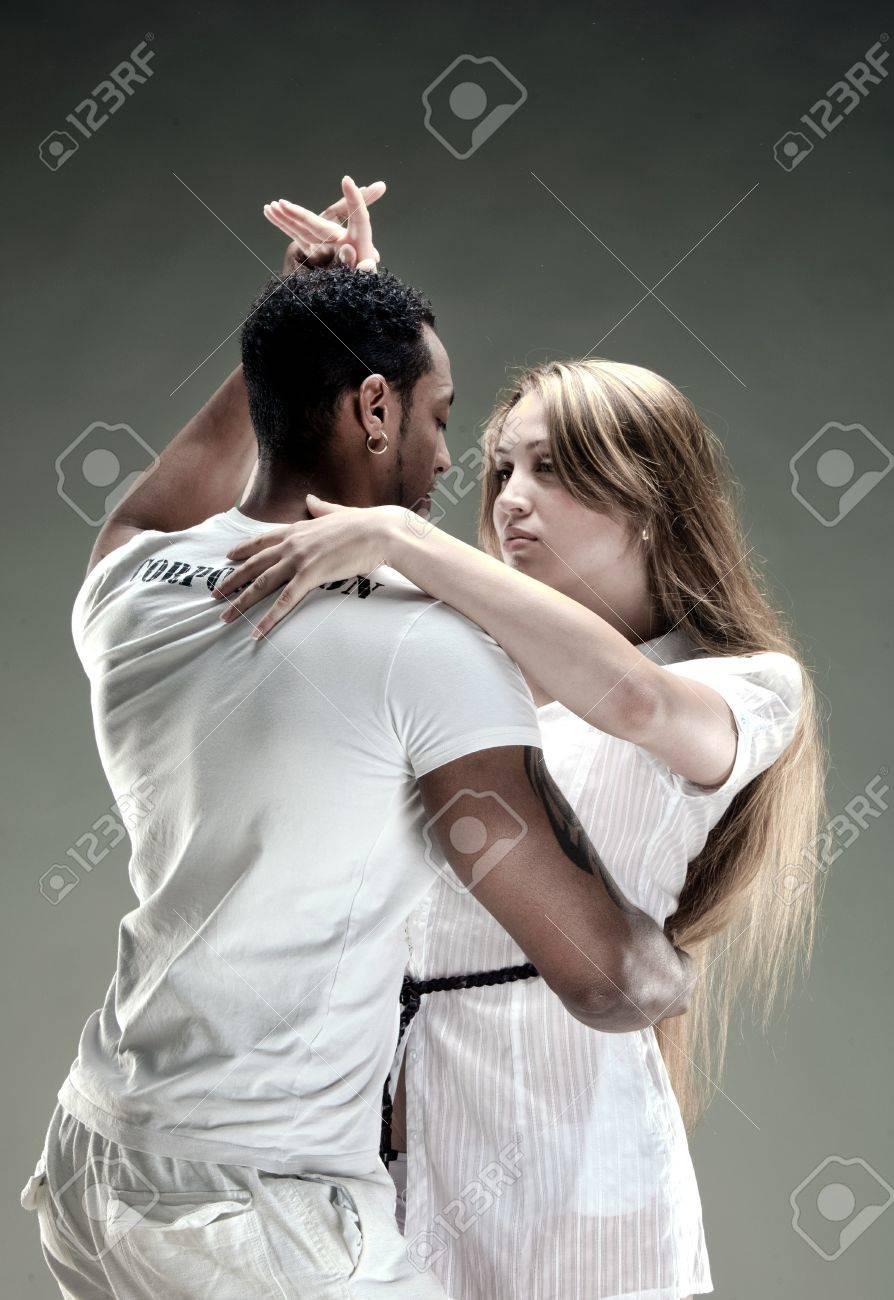 Young couple dances Salsa. Vintage photo. Stock Photo - 11545131