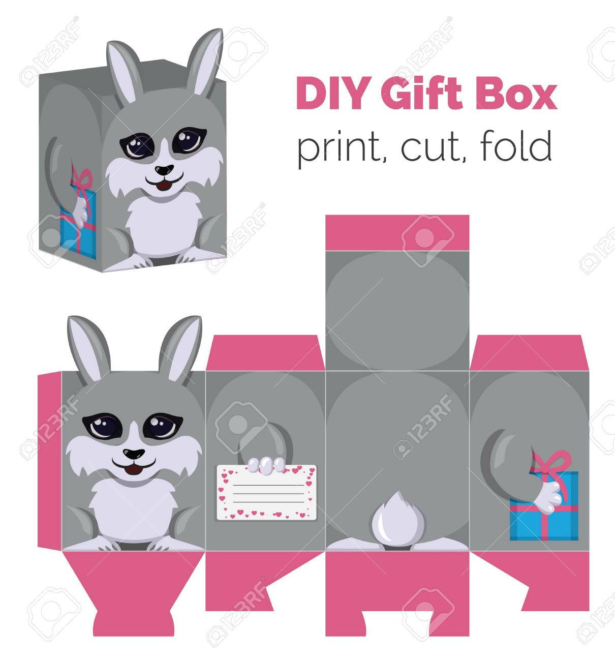 Adorable Do It Yourself Diy Rabbit Gift Box With Ears For Sweets