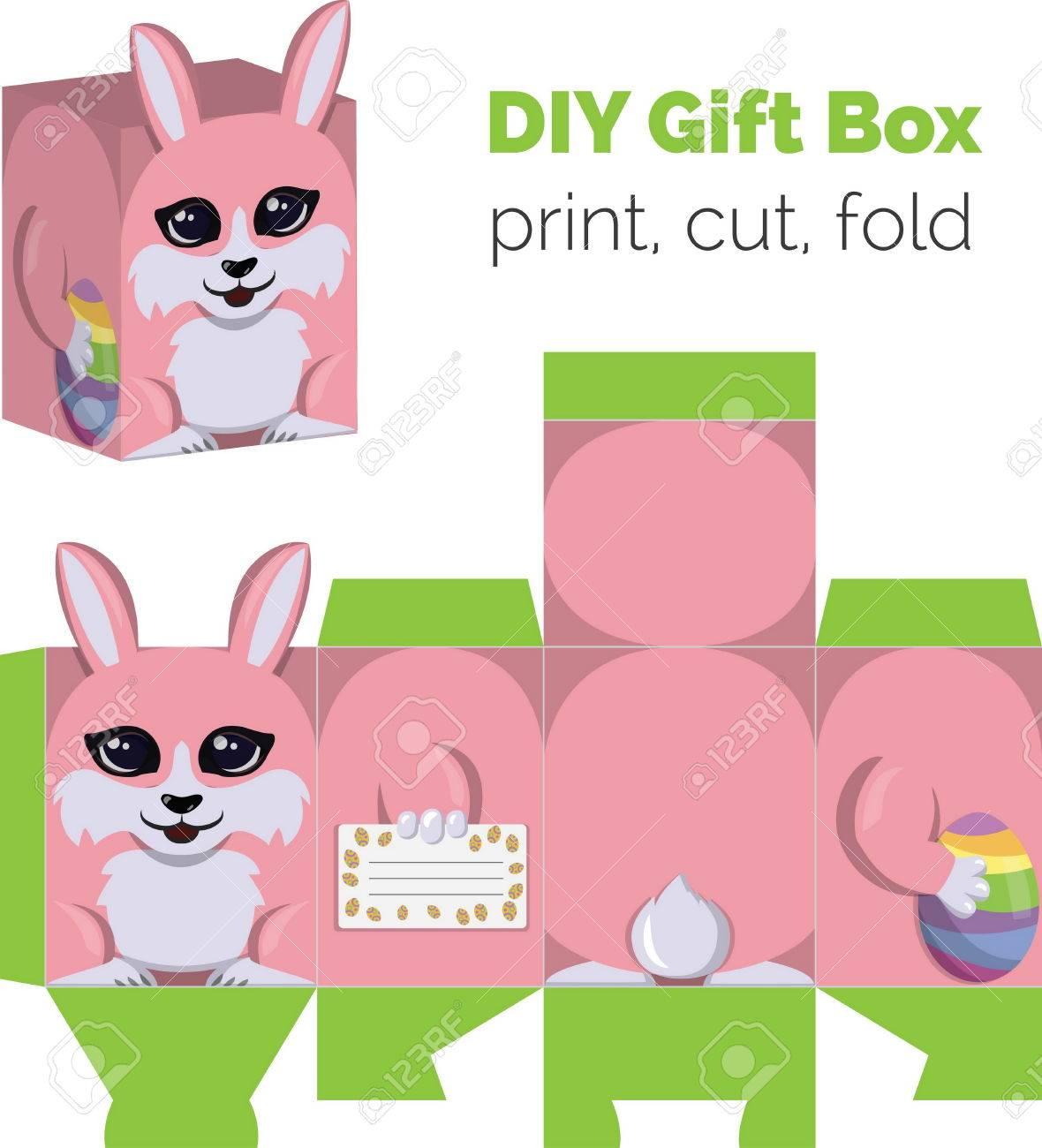 Adorable do it yourself diy easter bunny with egg gift box with adorable do it yourself diy easter bunny with egg gift box with ears for sweets solutioingenieria Choice Image
