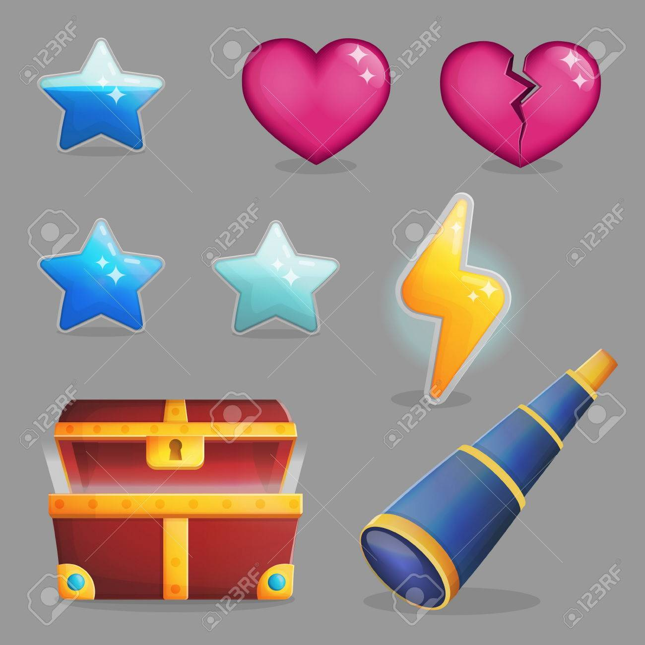 Collection of user rewards inside of a treasure chest  Life and