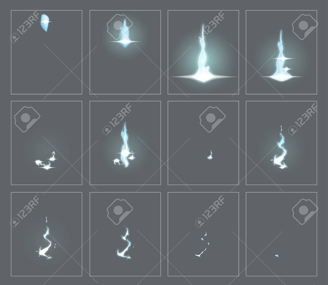 Lightning Special Effect Fx Animation Frames Sprite Sheet ...