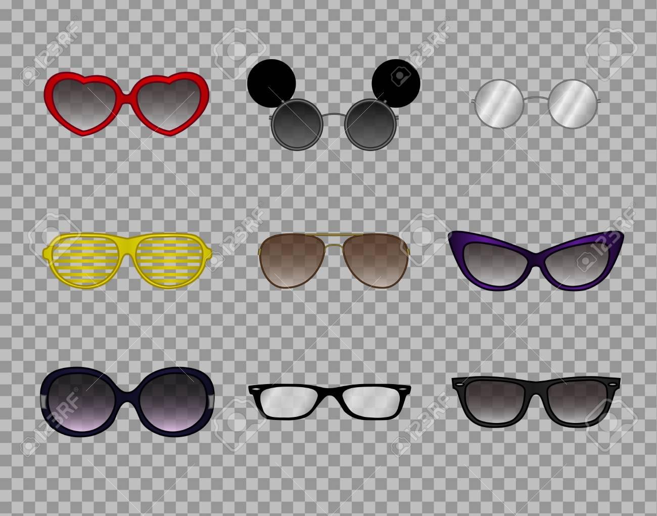 efe807ad48e0c Banque d images - Une collection de lunettes branchées