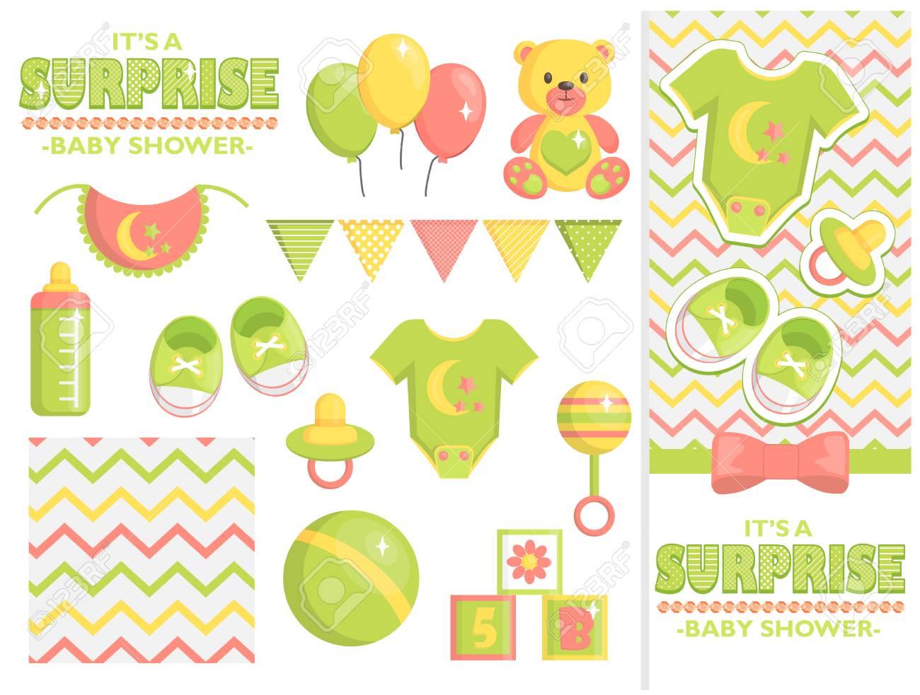 Es Una Colección Sorpresa De Artículos Para Baby Shower Para Fiestas