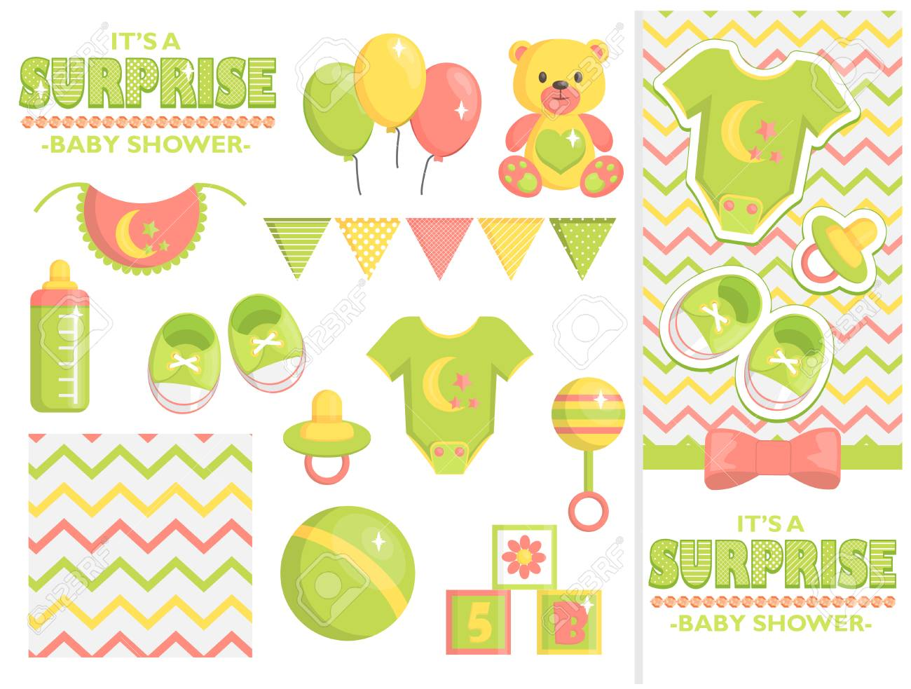 It Is A Surprise Baby Shower Items Collection For Party Event