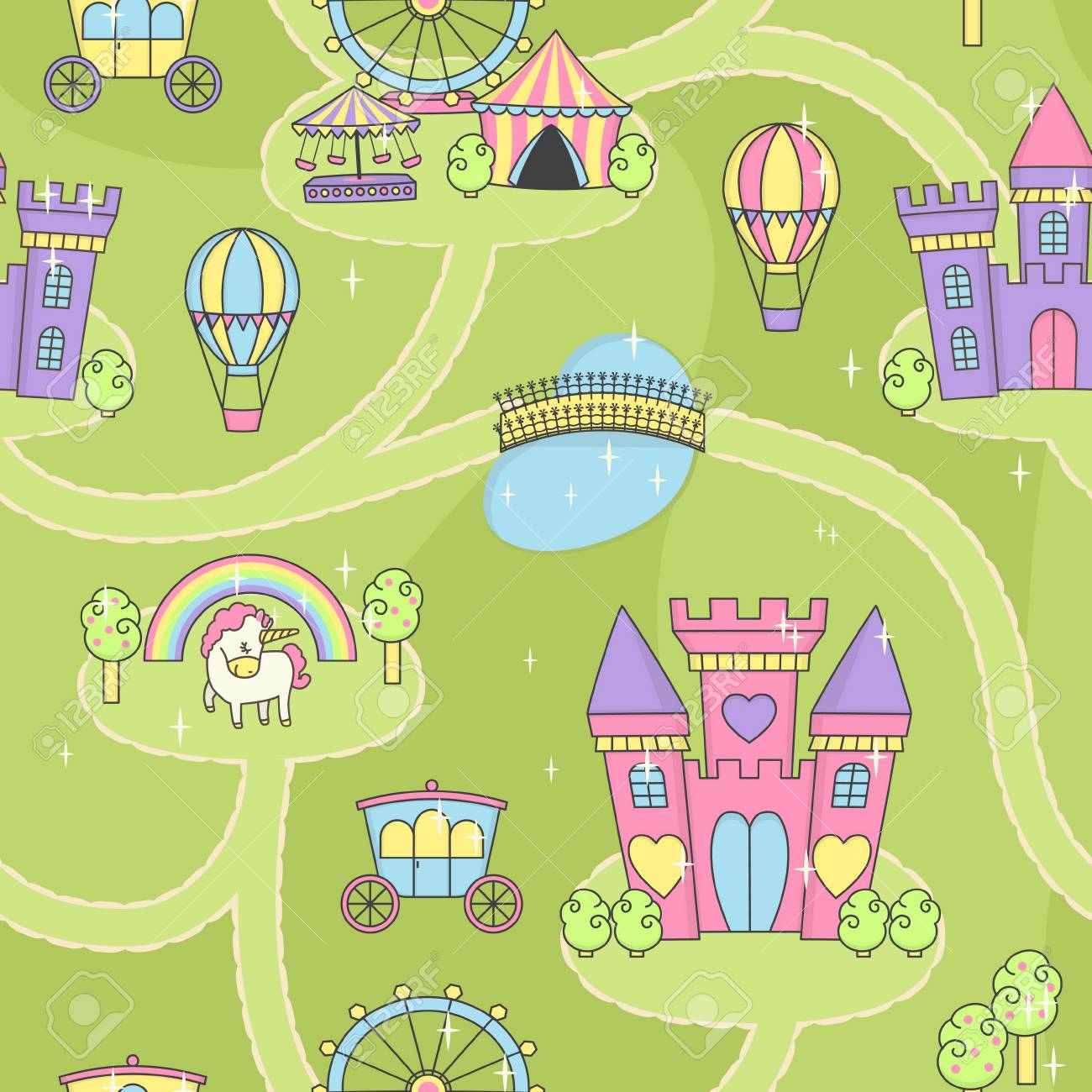 Fantasy fairy tale world princess castle play mat activity game fantasy fairy tale world princess castle play mat activity game for girls daydream imagination story publicscrutiny Image collections