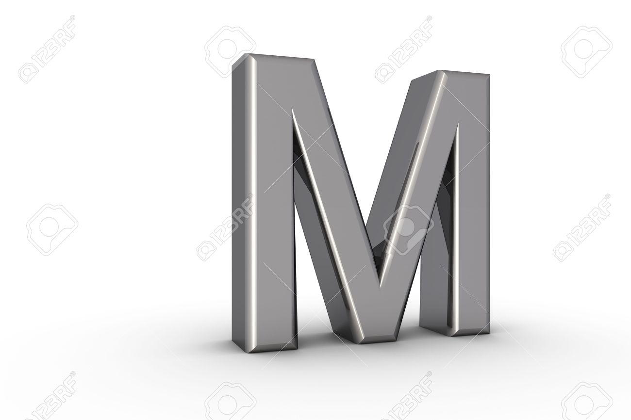 3d font alphabet letter m in chrome texture on white back drop stock 3d font alphabet letter m in chrome texture on white back drop stock photo 5197800 thecheapjerseys Images