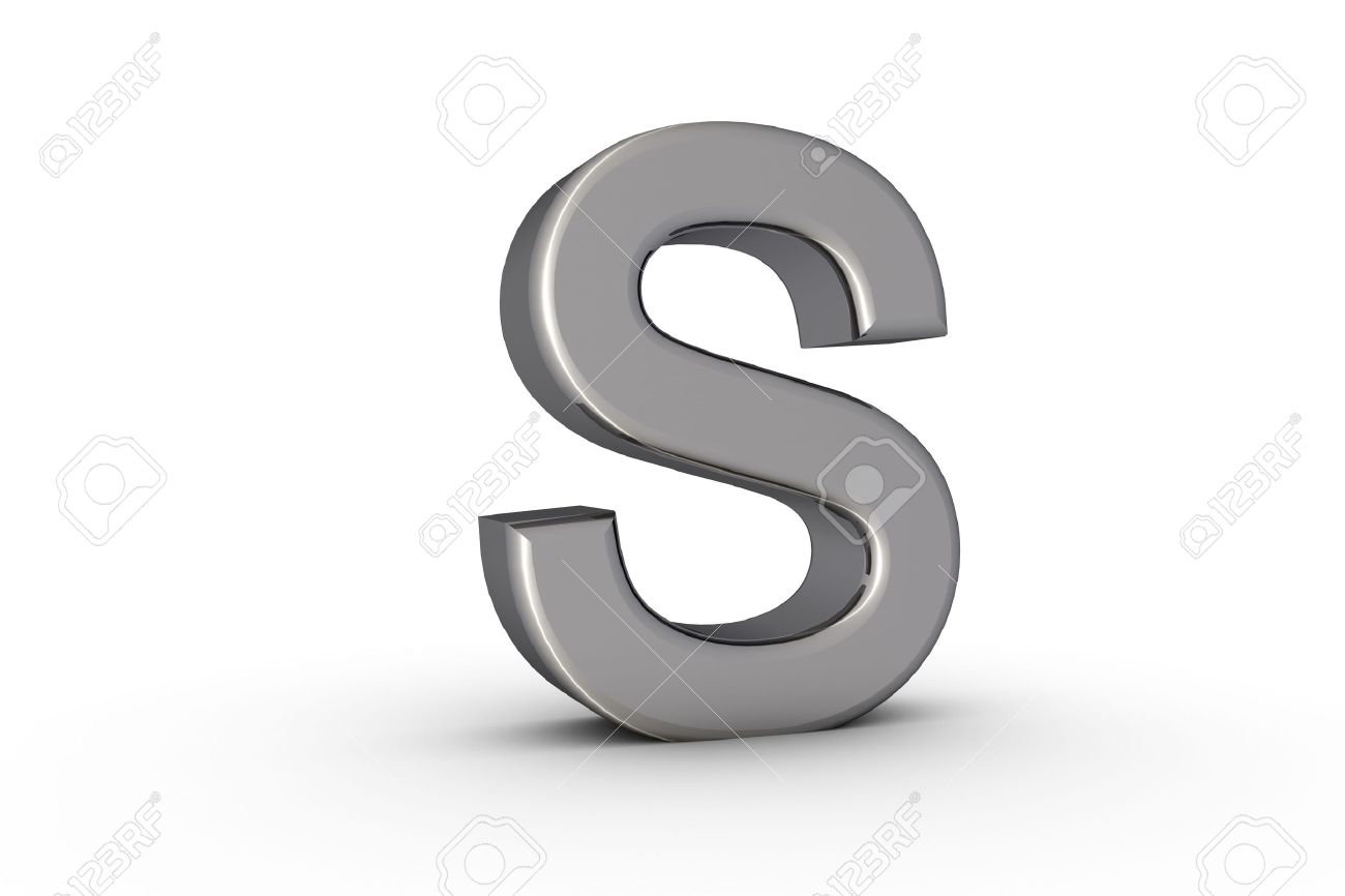 3D Font Alphabet Letter S in S Alphabet 3d