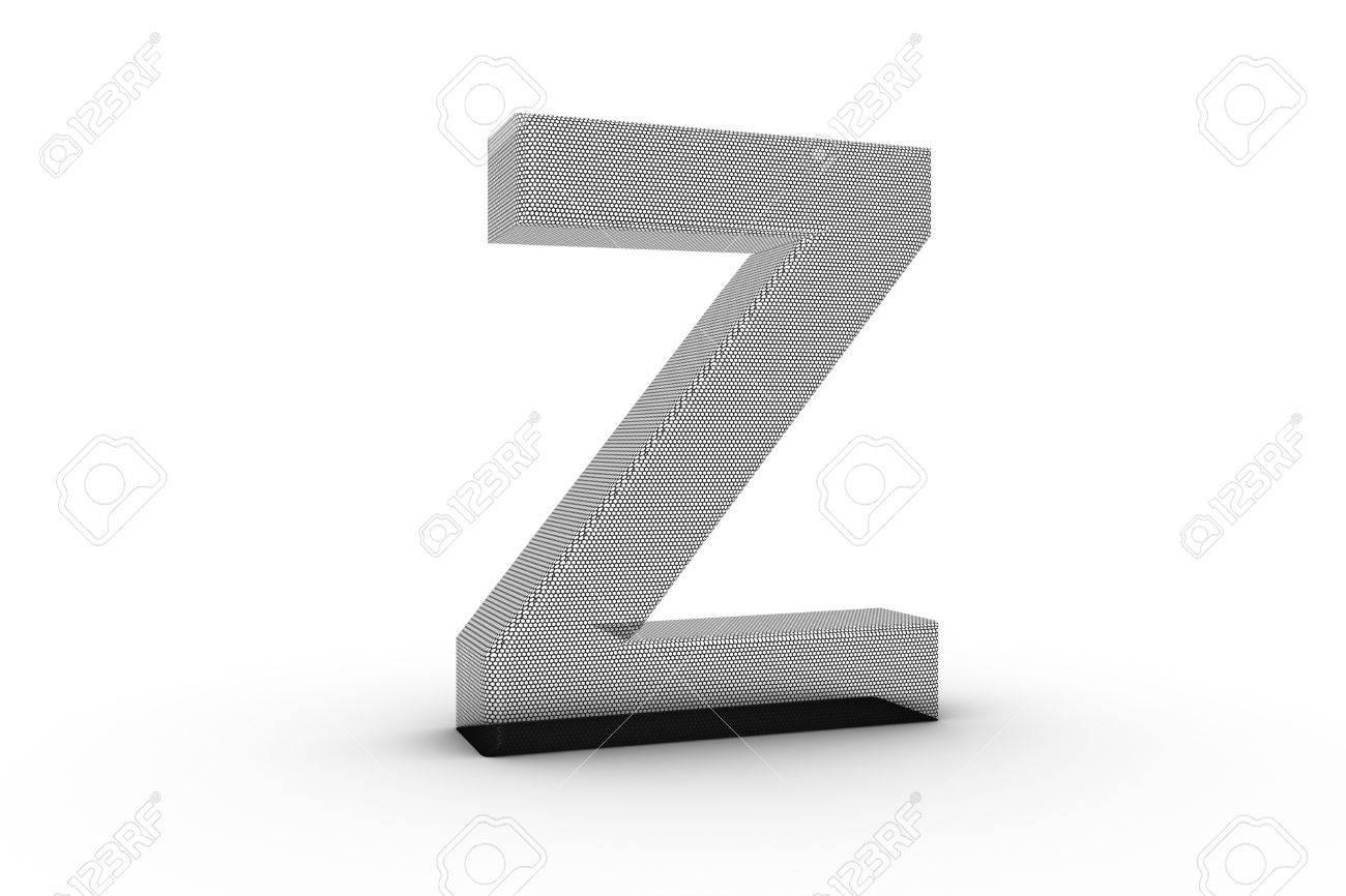 3D Font Alphabet Letter Z In Draht Vernetzen Textur Auf Zurück ...