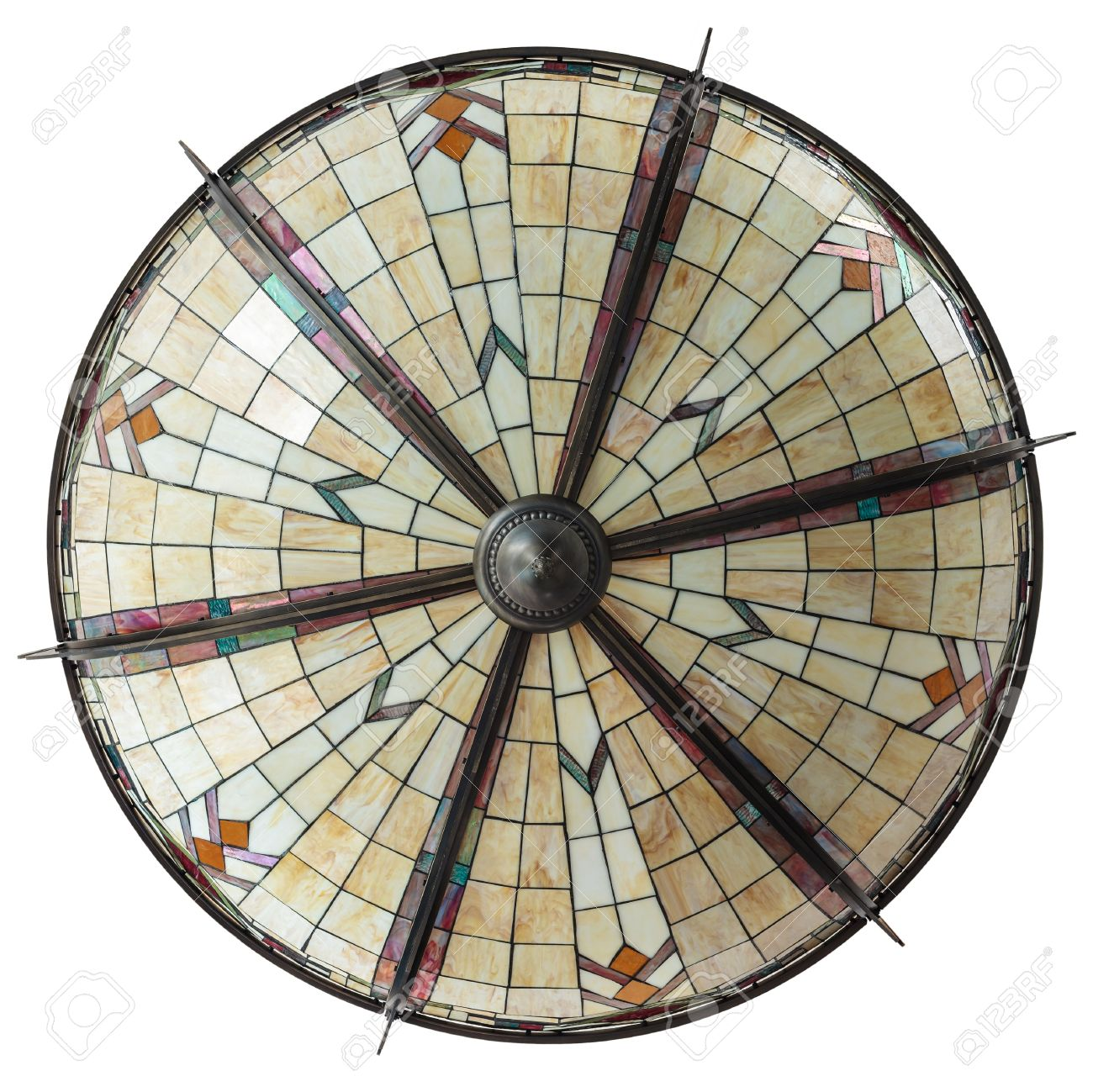 Top view of a large art deco ceiling lamp isolated on white stock top view of a large art deco ceiling lamp isolated on white stock photo 15329127 geotapseo Gallery