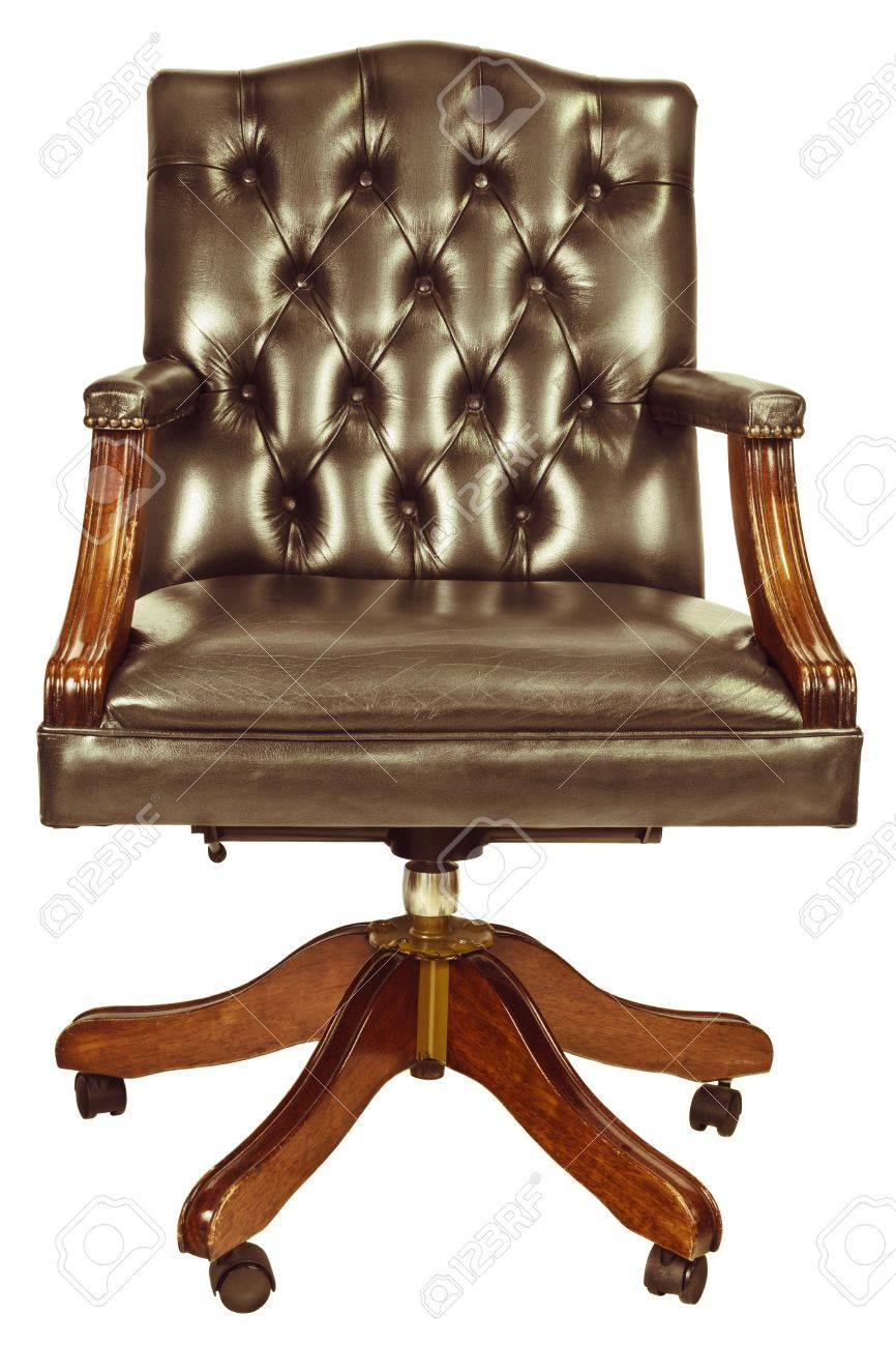 Picture of: Retro Styled Image Of A Classic Office Chair Isolated On A White Stock Photo Picture And Royalty Free Image Image 22025539