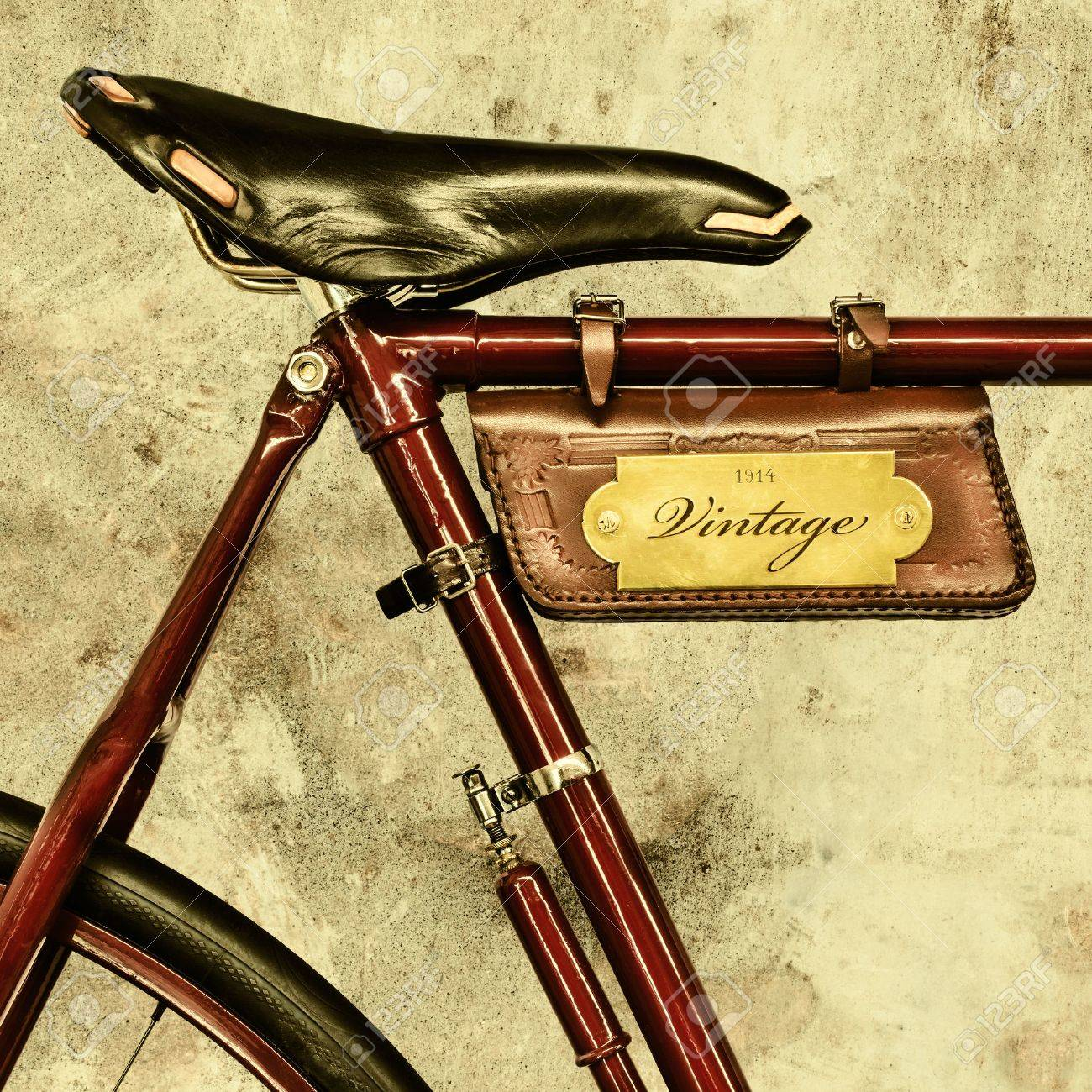 Vintage Leather Saddle Bag For Bicycle