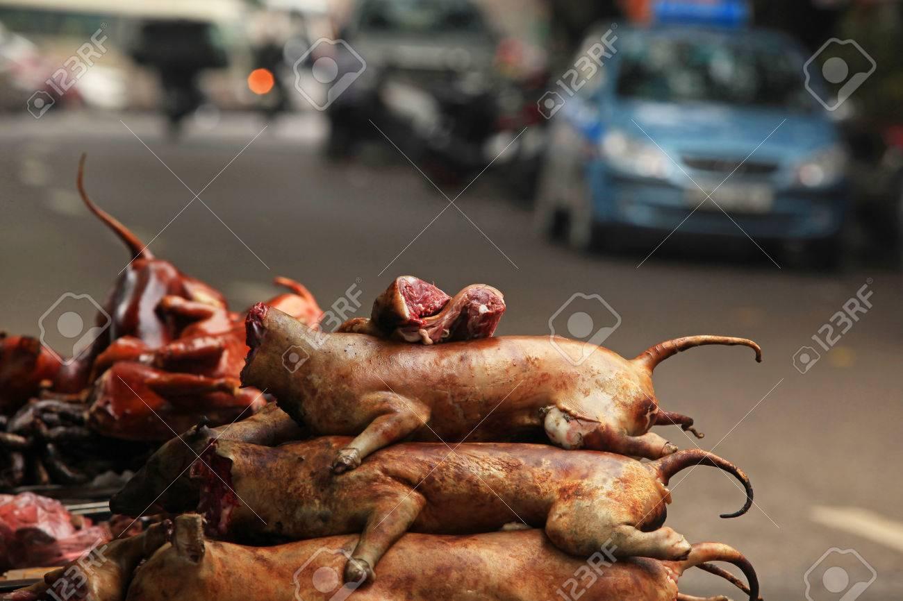 Hanoi Vietnam 15 Marzo 2015 Vendita E Acquisto Di Carne Di Cane
