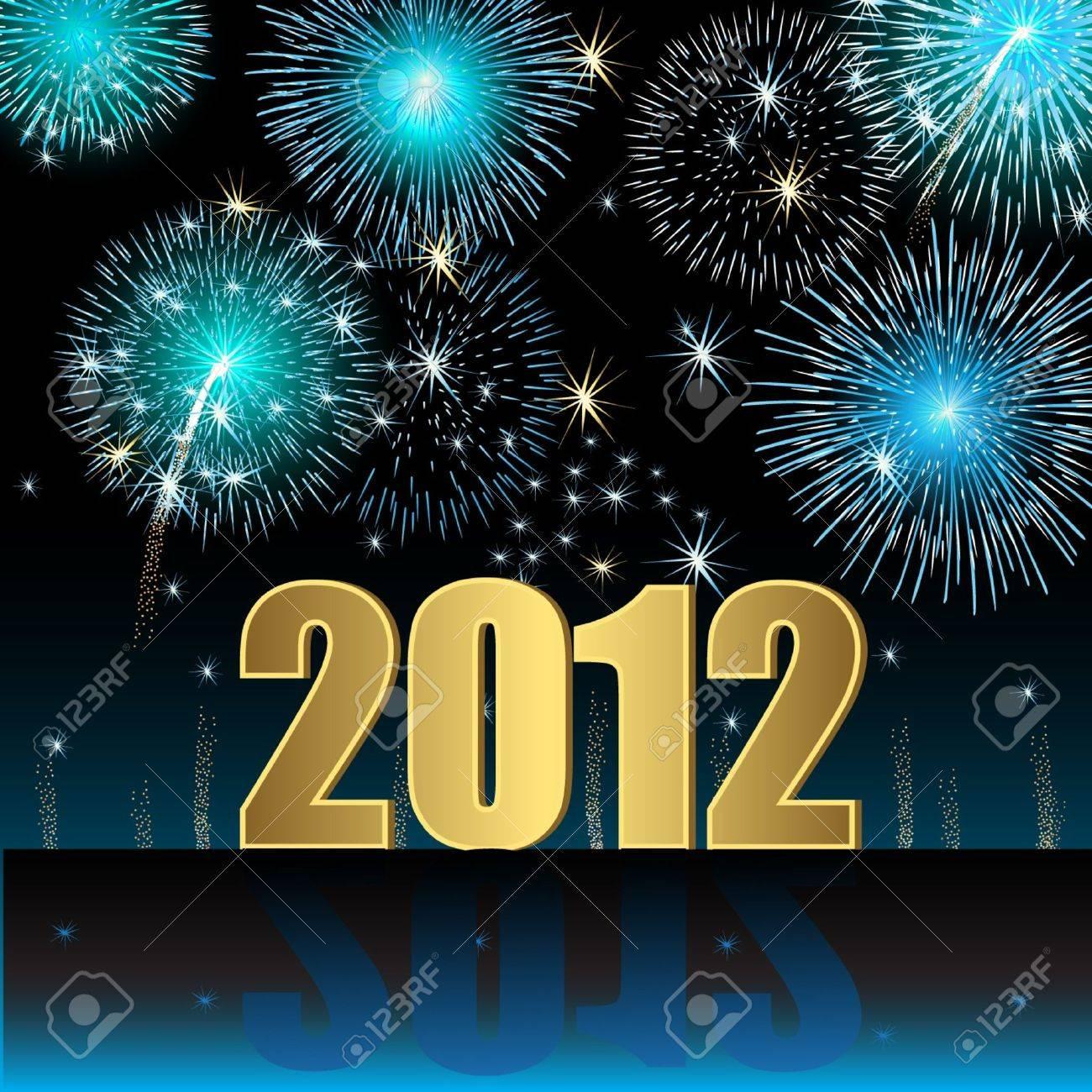 Happy New Year 2012 Stock Vector - 10229341