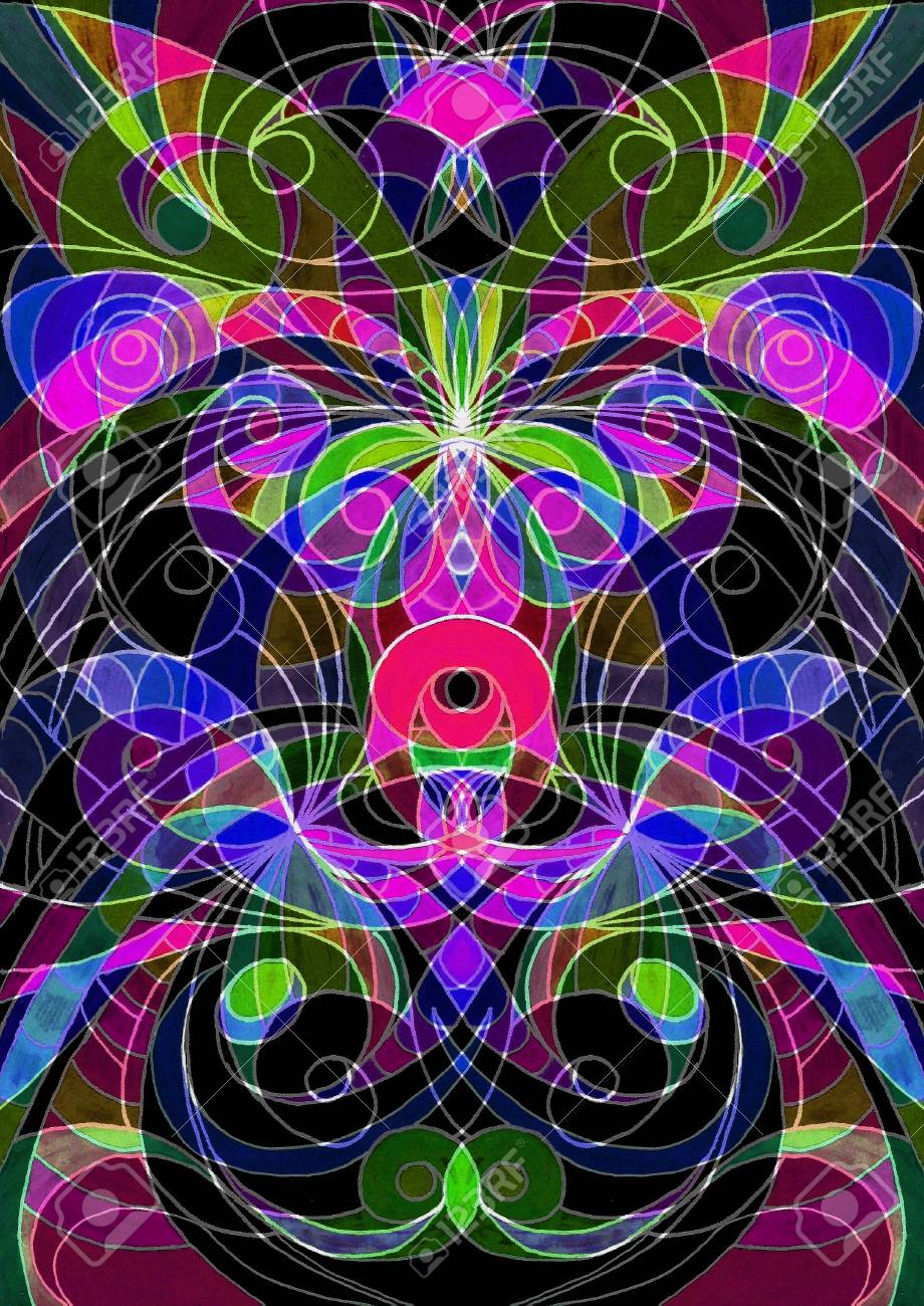 Digital Artworks Ethnic Style Stock Photo - 21317005