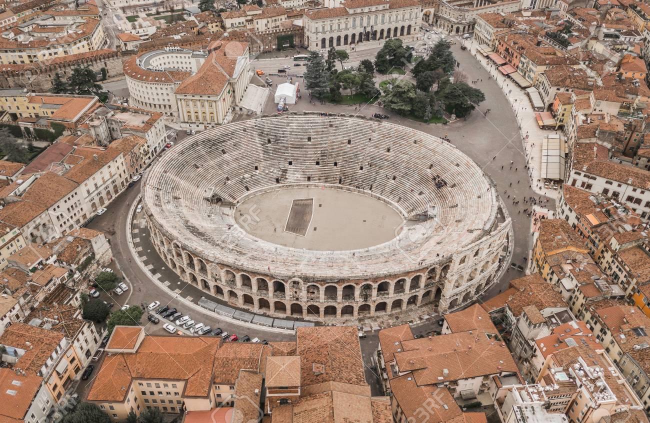 Aerial view of Arena di Verona - 98928565