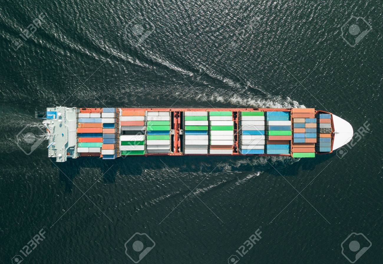 Container ship sailing in sea - 106955605