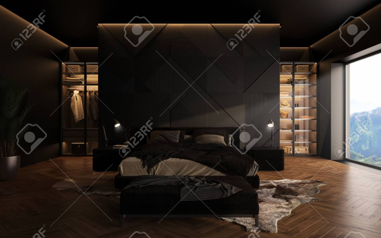 Luxury Studio Apartment With A Free Layout In A Loft Style In Stock Photo Picture And Royalty Free Image Image 144830924