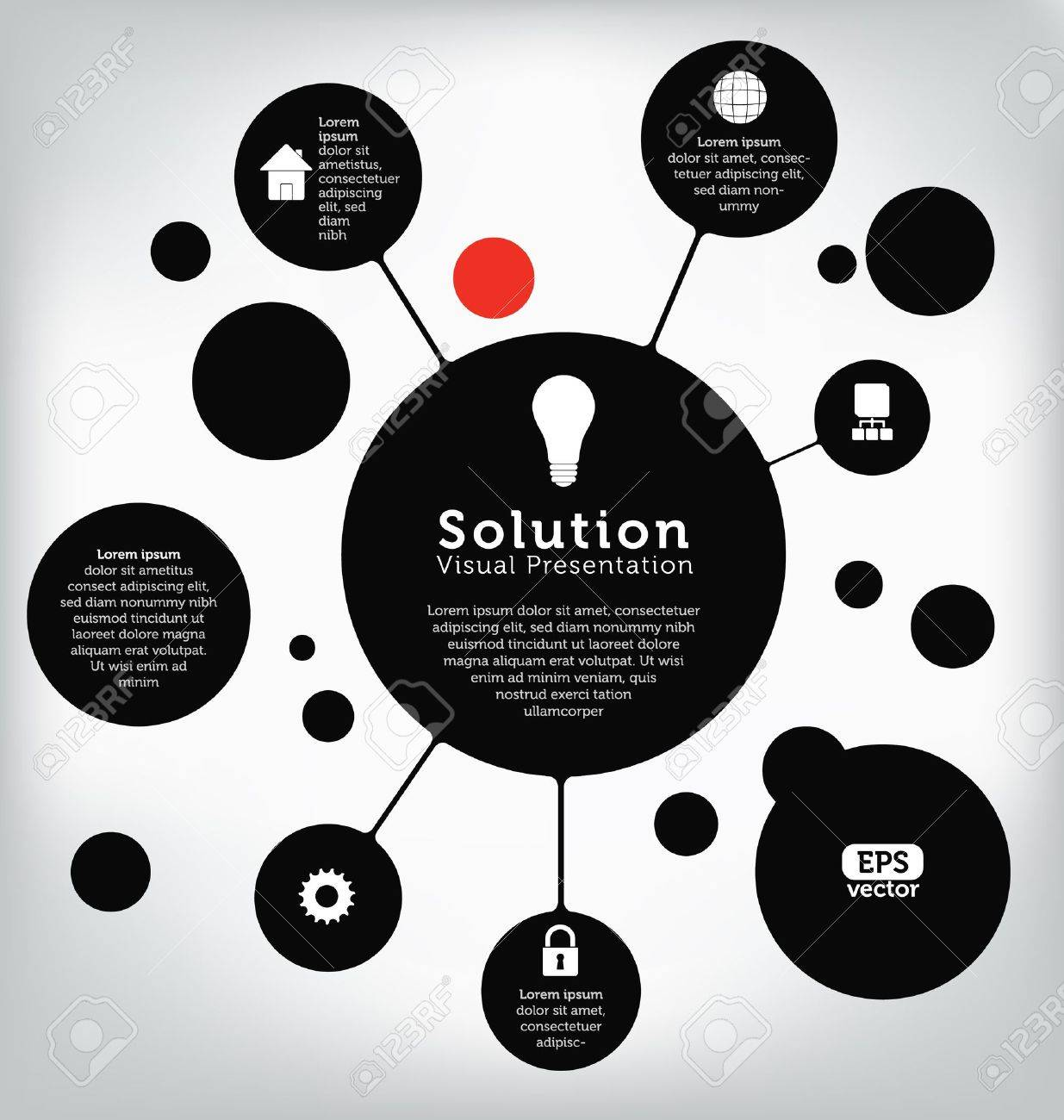 Template for visual presentation in information technology - 14559496