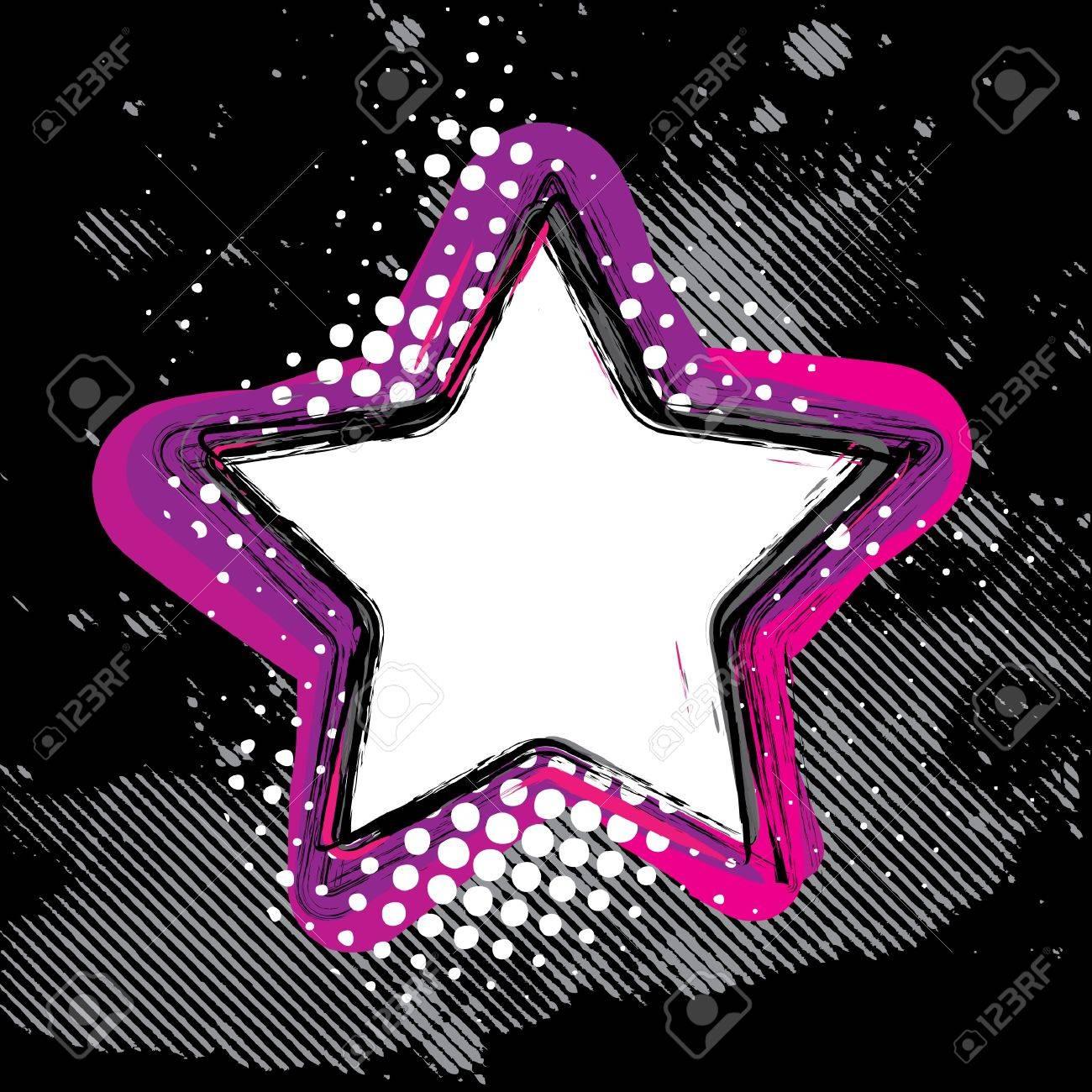 Grunge Star Stock Vector - 14557358
