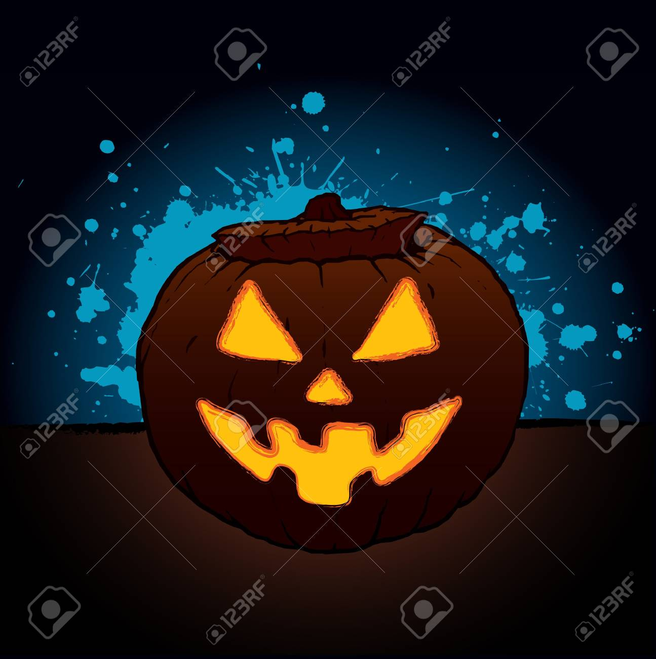 Pumpkin Lantern for Halloween Stock Vector - 14556509